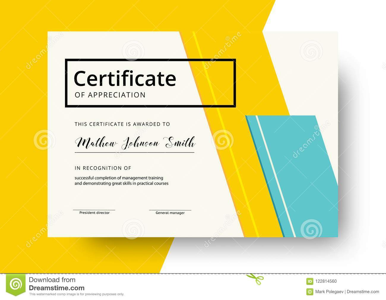 certificate of appreciation template design elegant business di