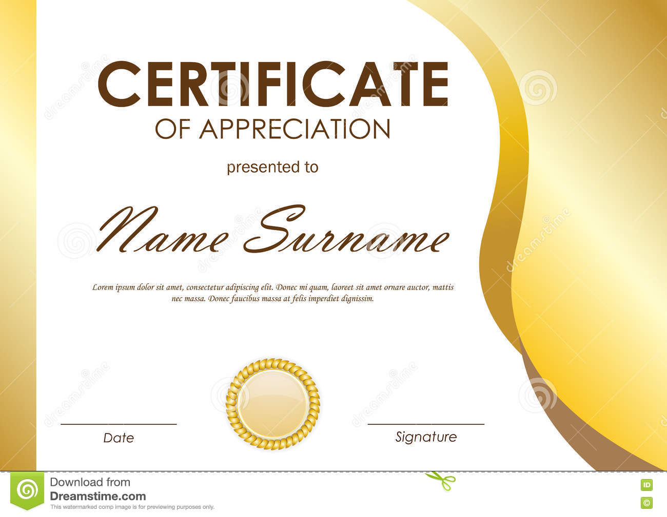 certificate of appreciation template stock vector - image: 81371093, Modern powerpoint
