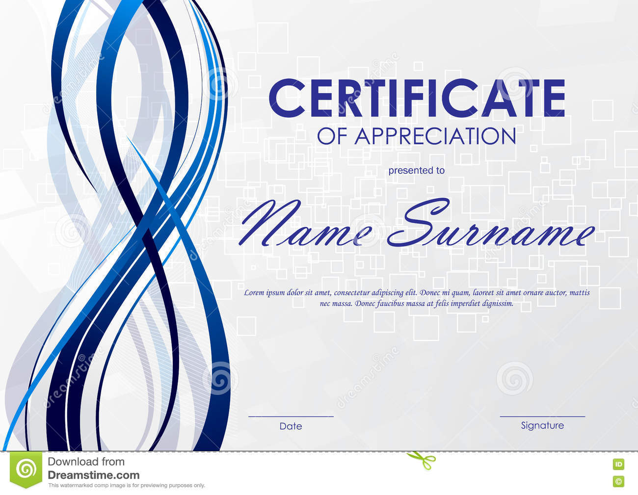 Certificate of appreciation template stock vector image 81760140 certificate of appreciation template royalty free vector download certificate yelopaper