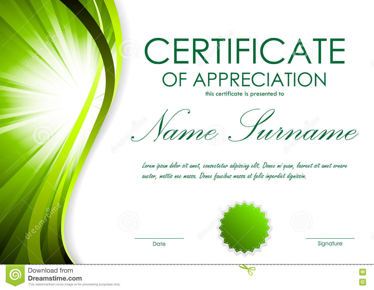 Certificate of appreciation templates free download gallery certificate of appreciation template stock vector illustration certificate of appreciation template royalty free vector download certificate yadclub Image collections