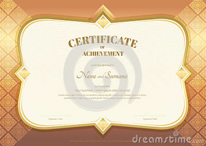 Certificate Of Appreciation Template In Vector With Applied Thai