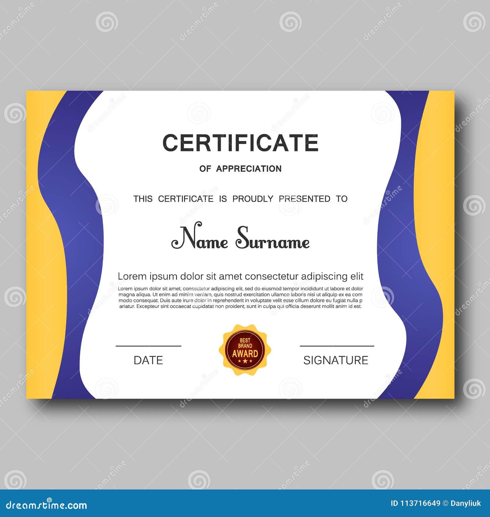 certificate of appreciation template vector trendy geometric design