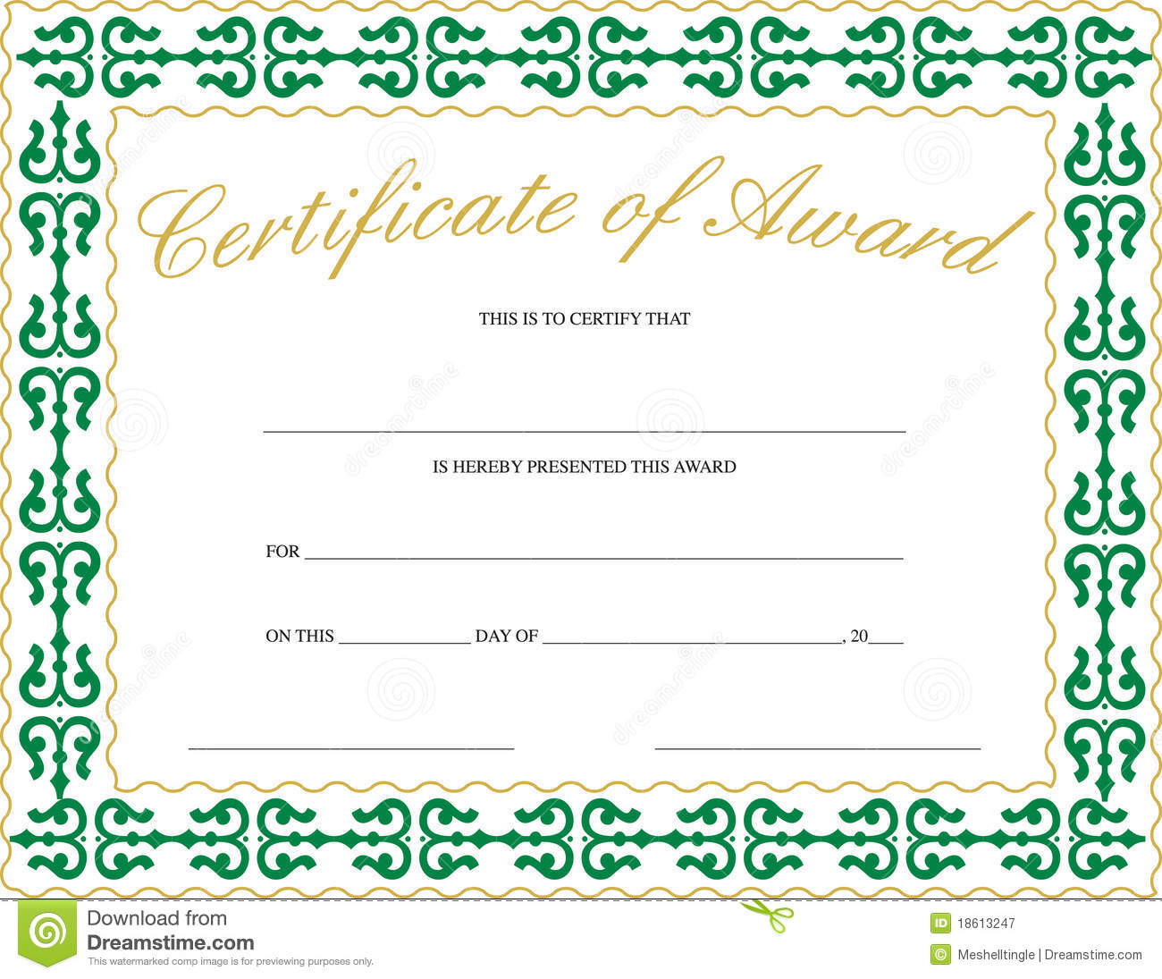 Free Award Certificate Templates Word Free Award Certificate Templates Word  Certificate Of Achievement Template Word