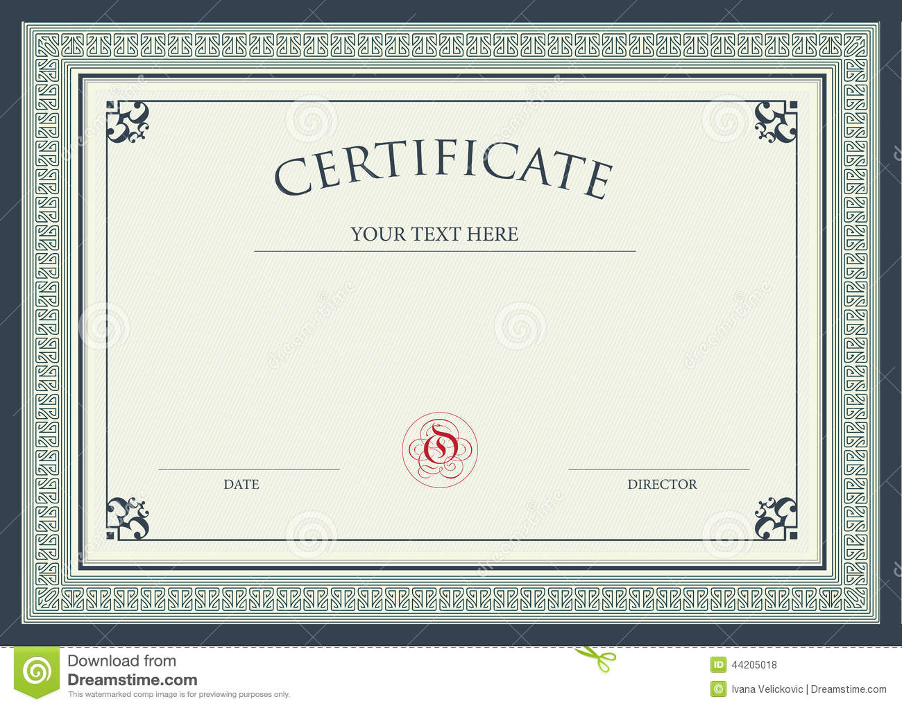 Certificate Of Award Stock Illustration  Image: 44205018
