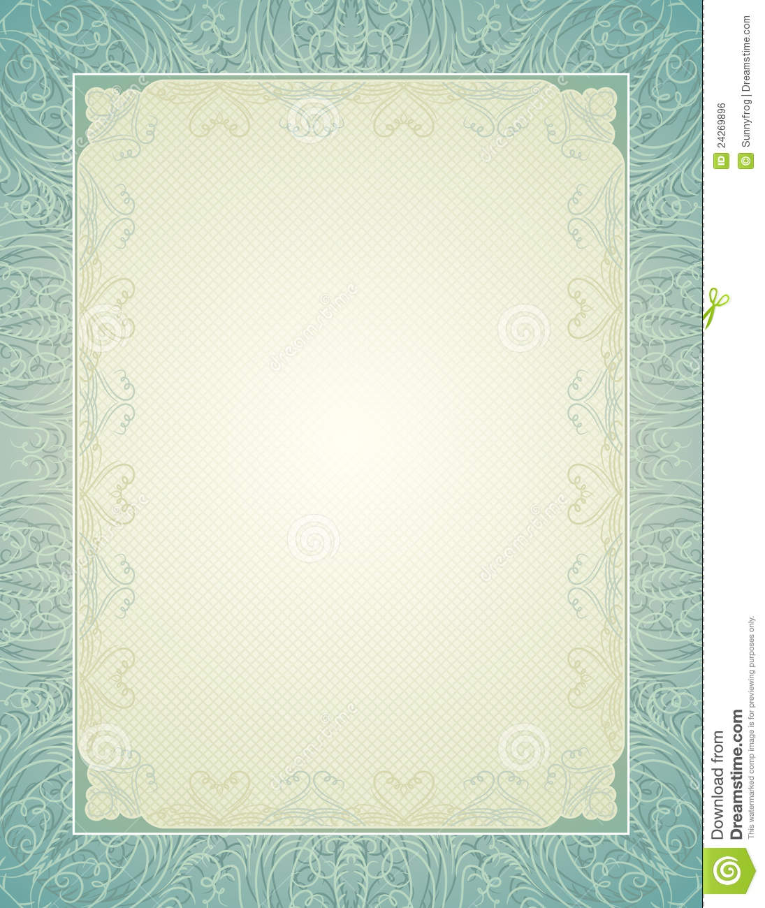 Certificate Background With Calligraphic Lines Royalty Free Stock ...