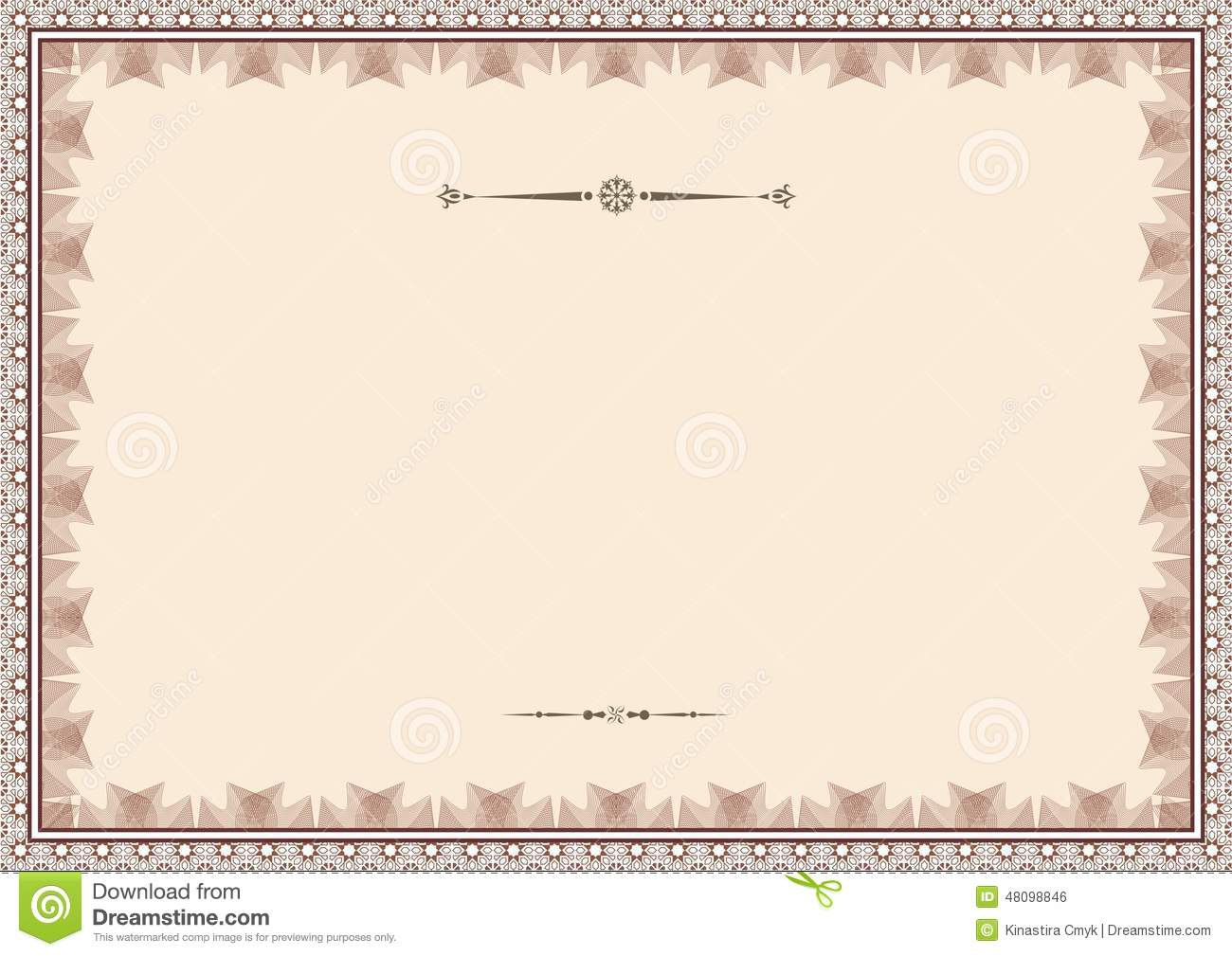 Certificate Background Templates1 Stock Vector Image