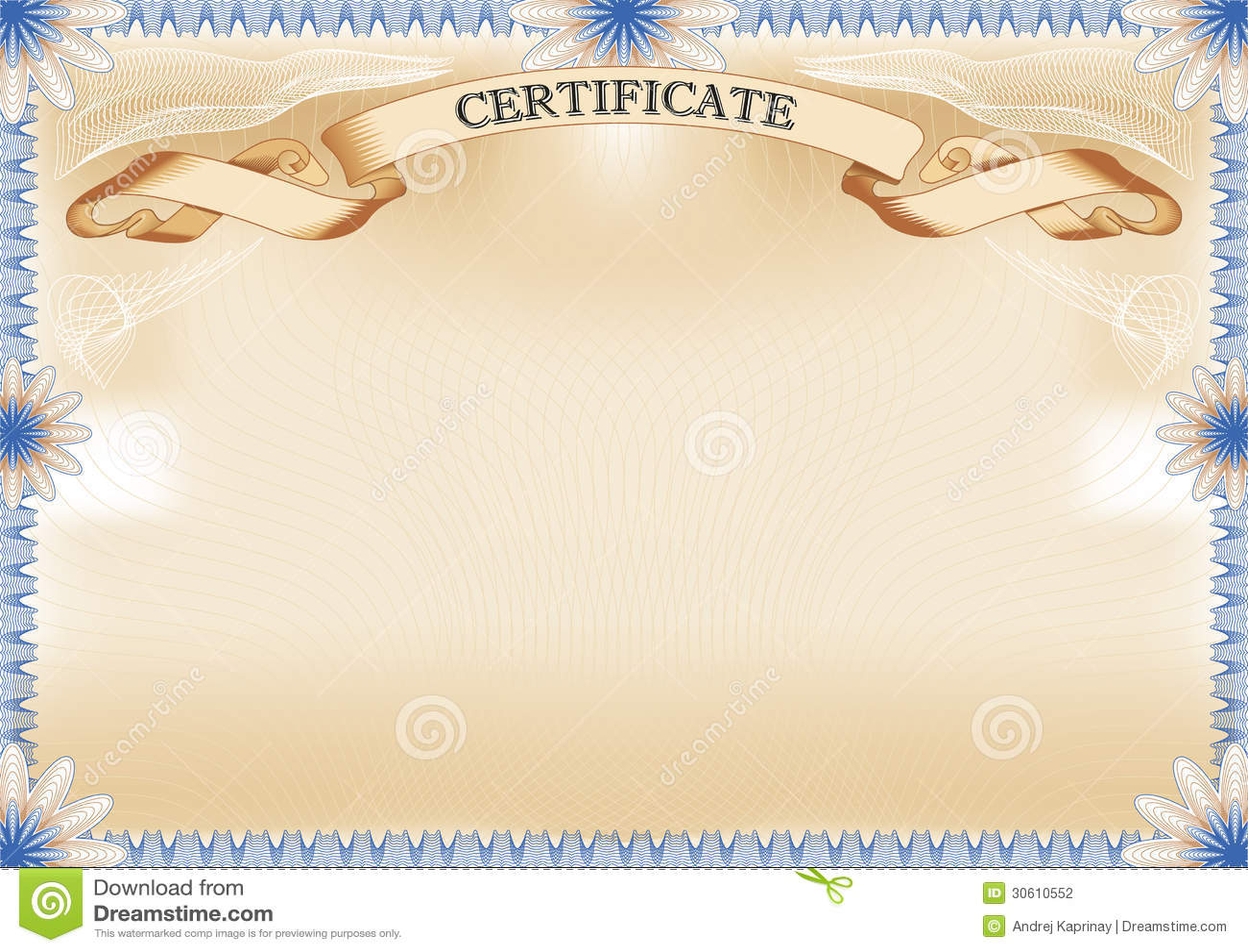 Certificate Template Stock Vector - Image: 46821834