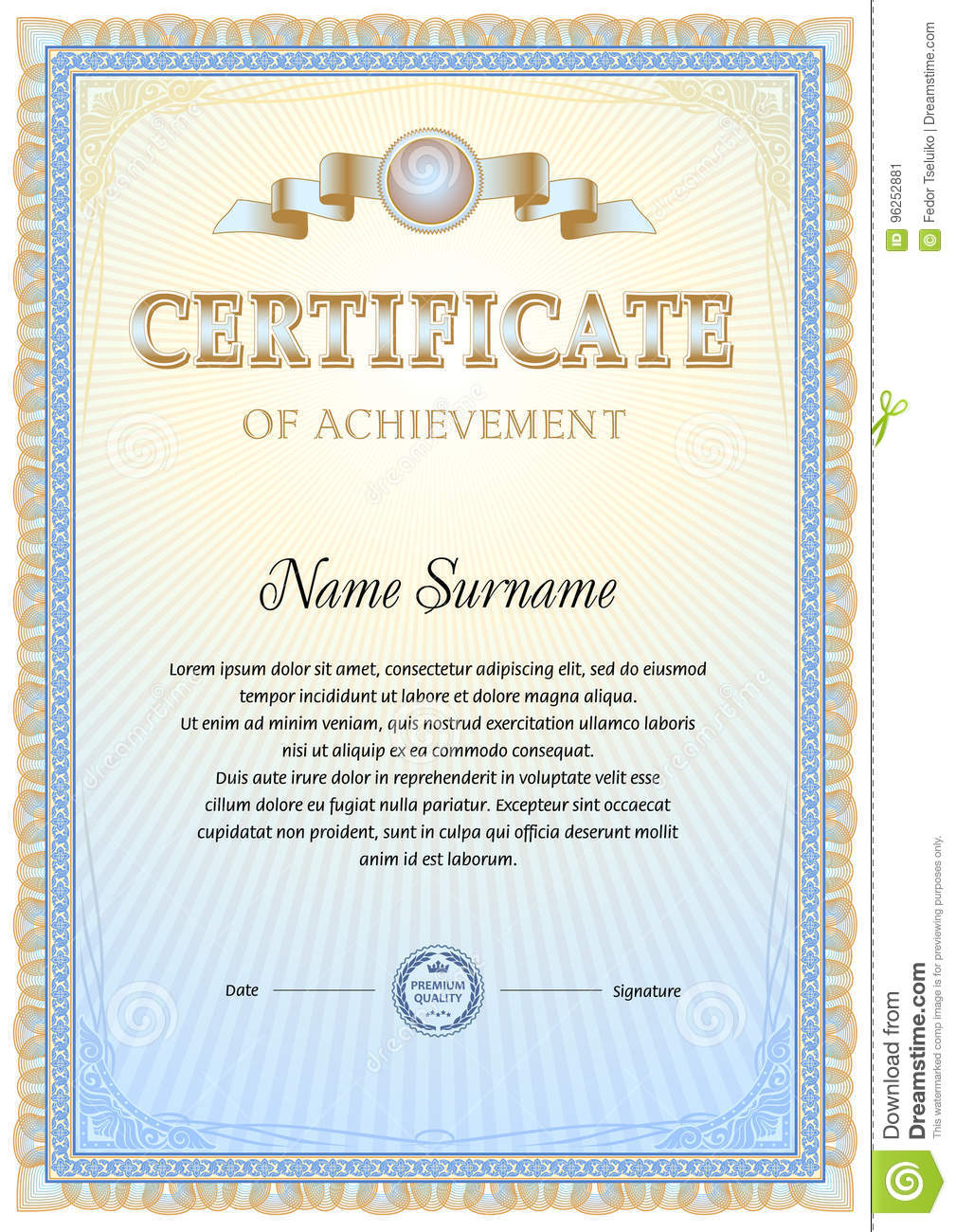 certificate blank template stock vector illustration of antique