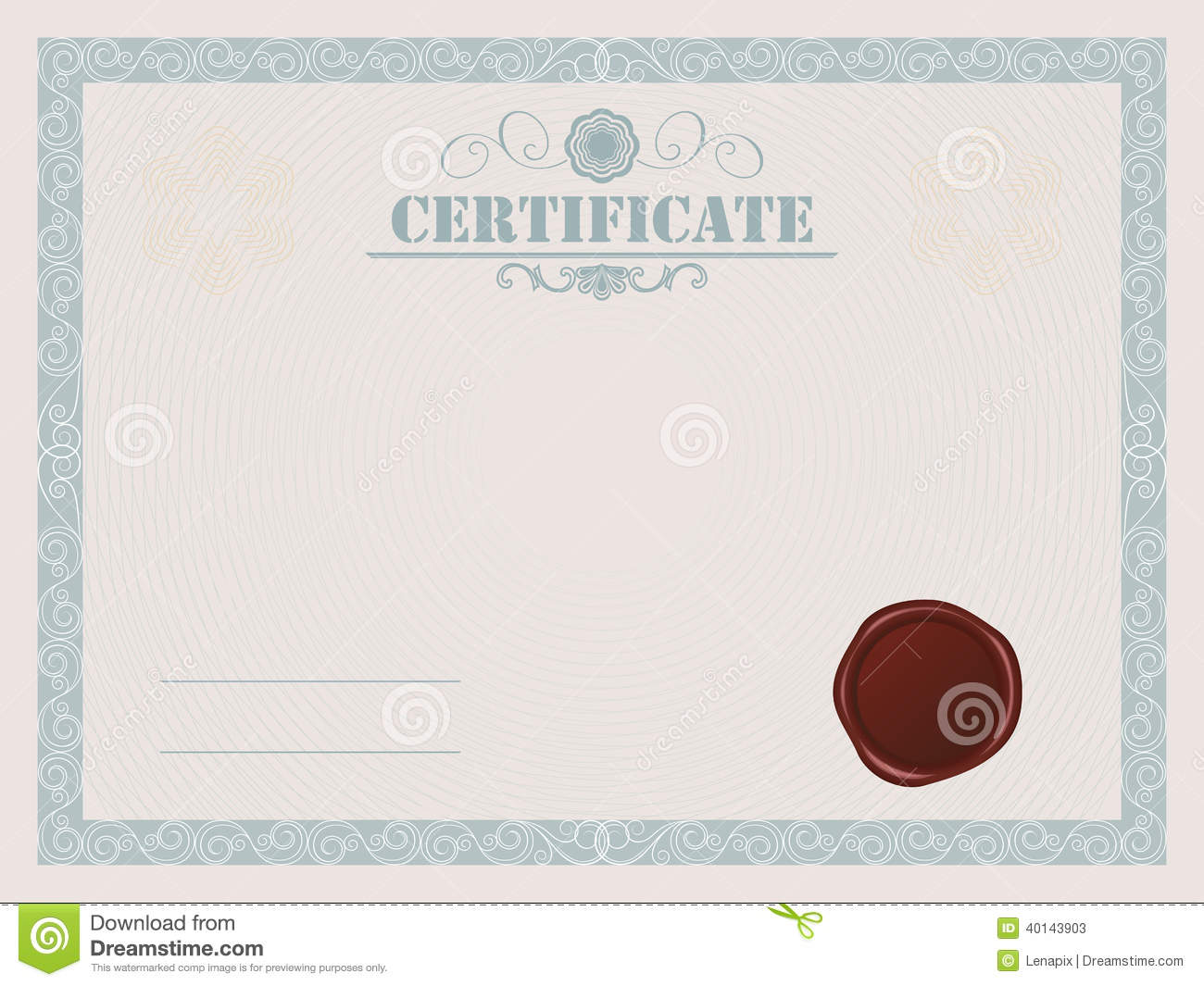 Certificate Stock Vector Illustration Of Ornament Business 40143903