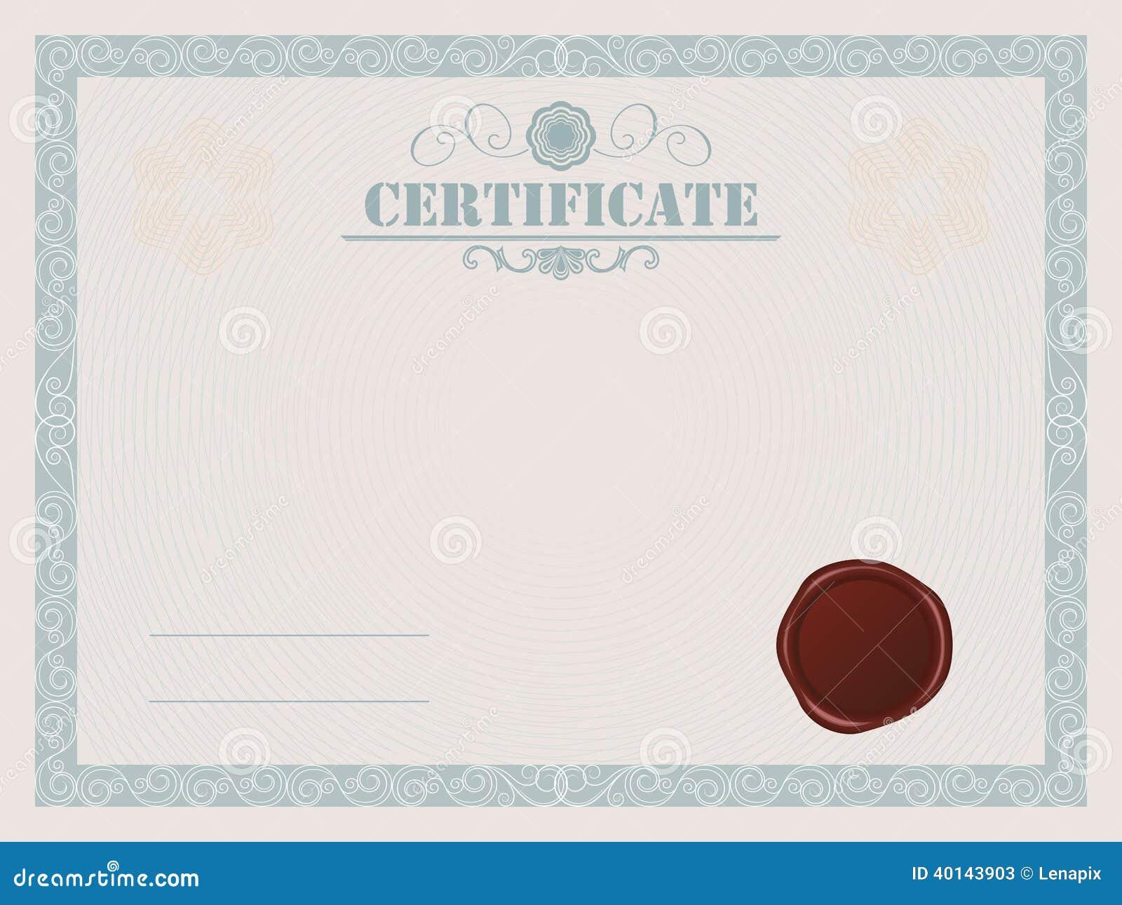 certificate stock vector