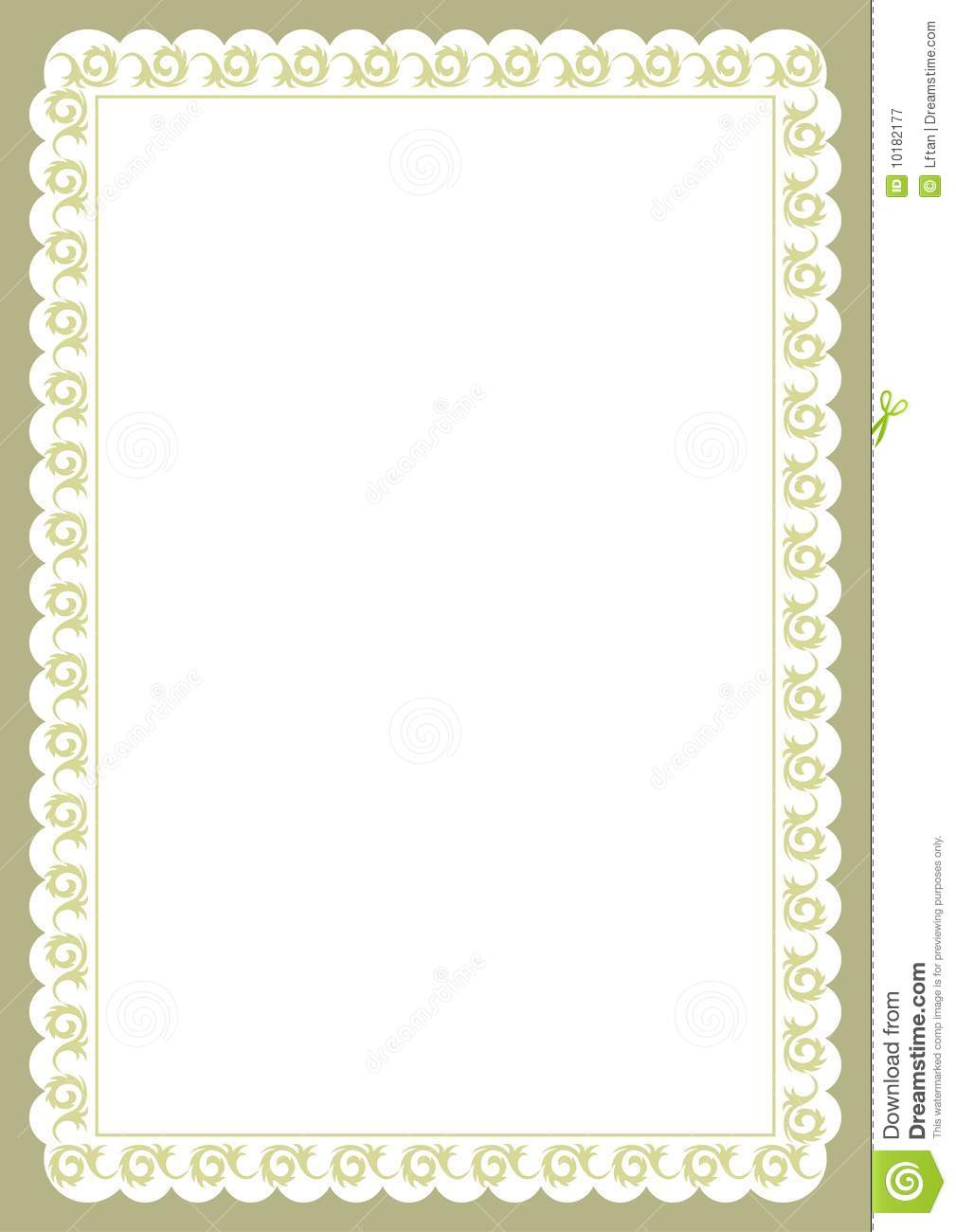 Certificate Border Royalty Free Stock Photography Image
