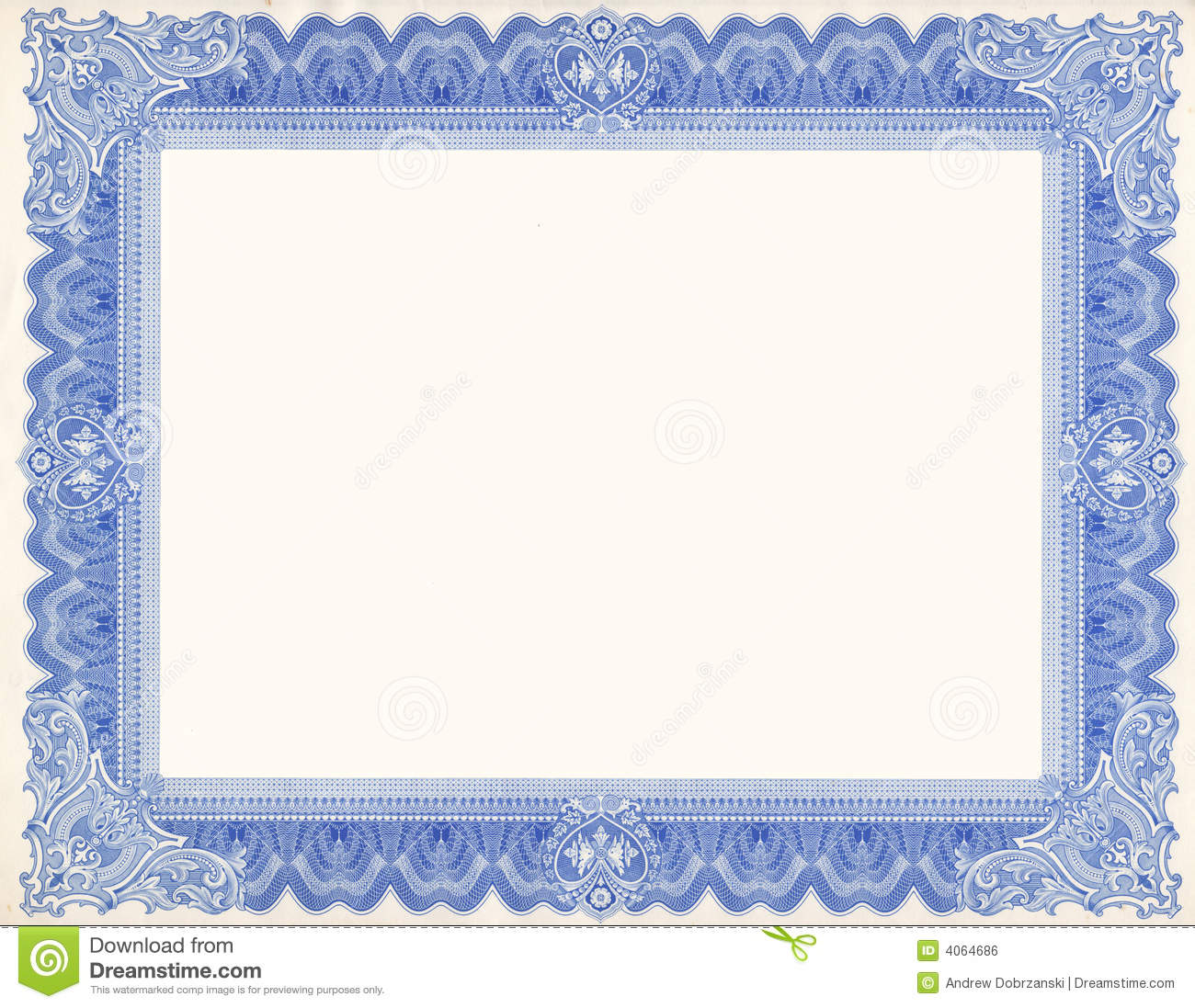Certificate border stock photo image of customizable 4064686 certificate border yadclub Choice Image