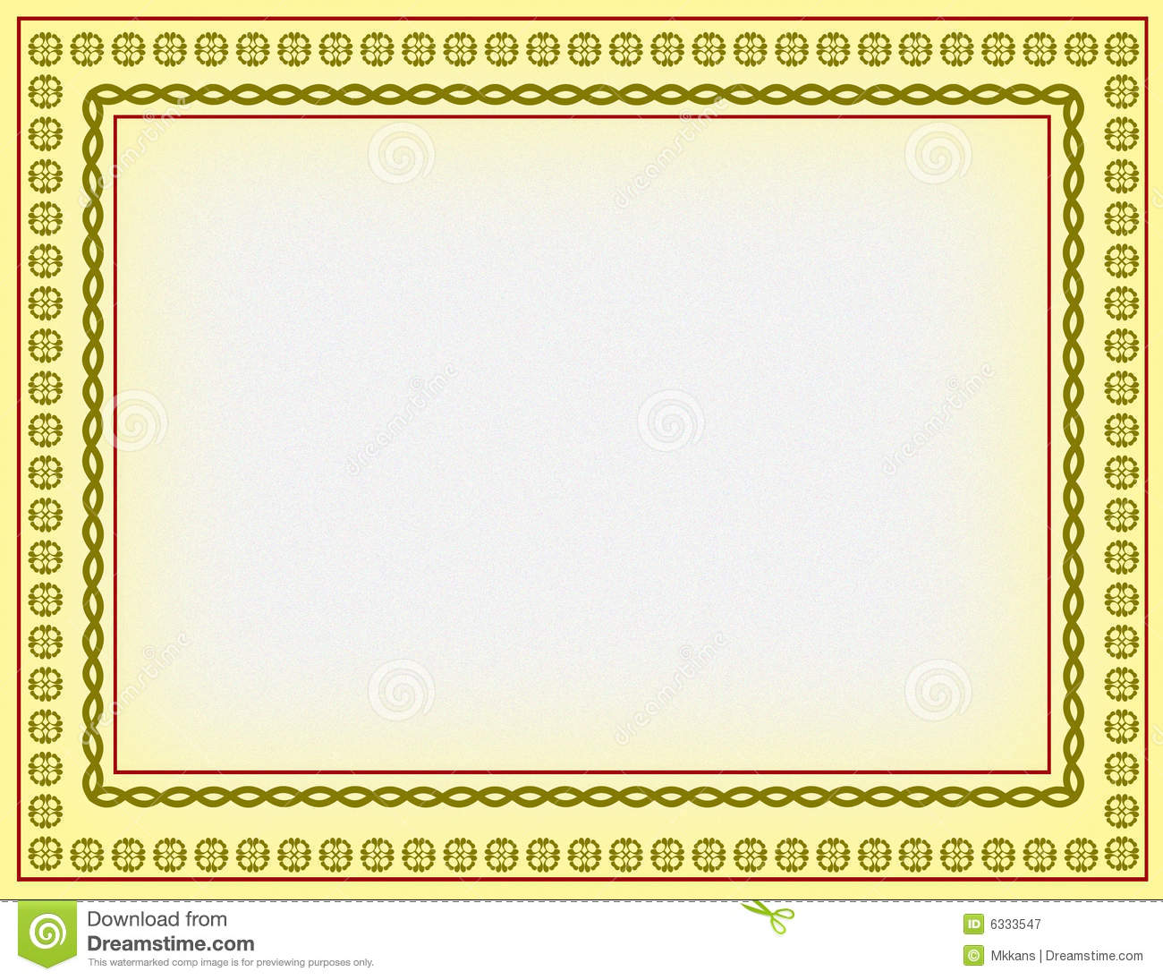... colours border generated by illustration on yellow colour background