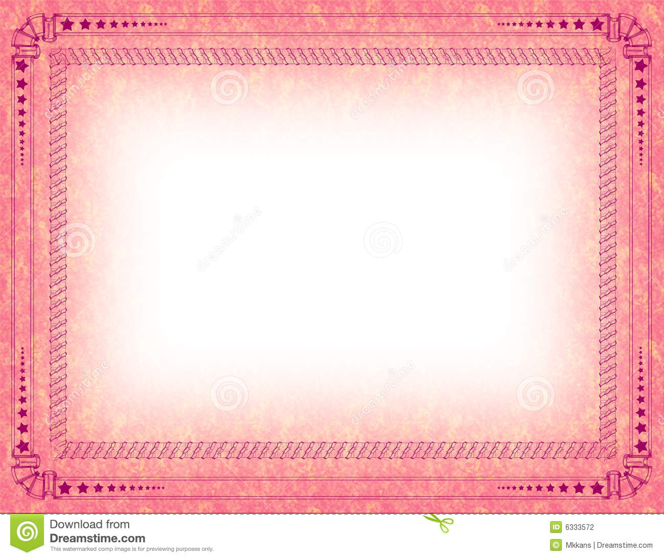 Certificate border stock illustration. Illustration of ...