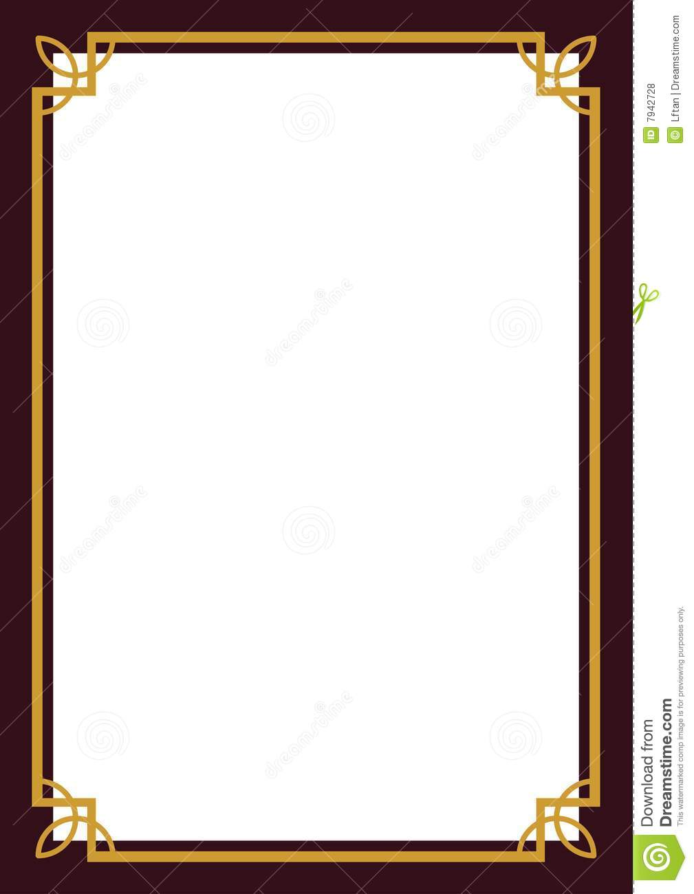certificate border stock vector illustration of vector 7942728 rh dreamstime com certificate border vector download certificate border vector eps free download