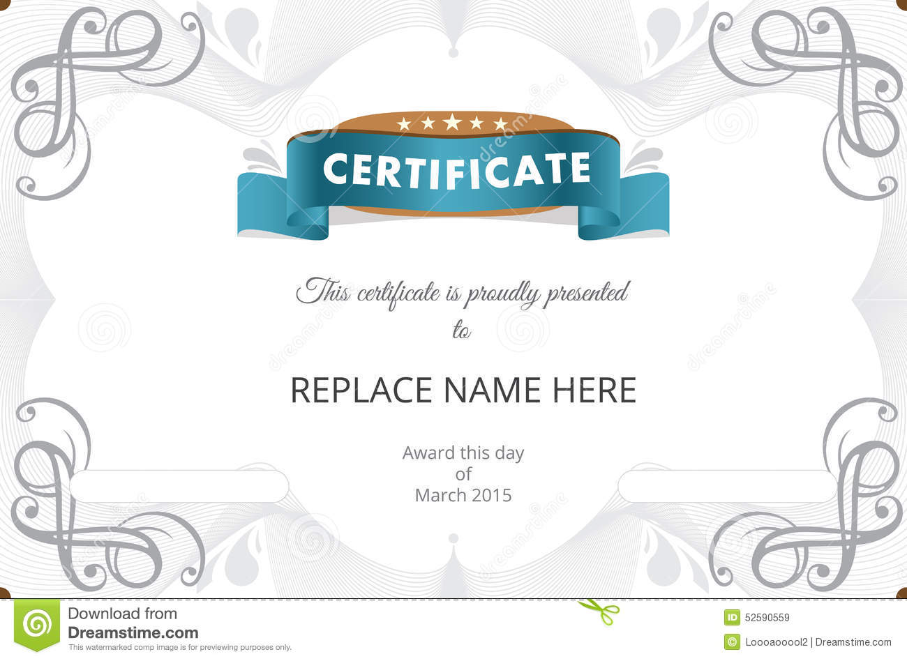Certificate border certificate template vector illustration stock certificate border certificate template vector illustration bill award yadclub Choice Image