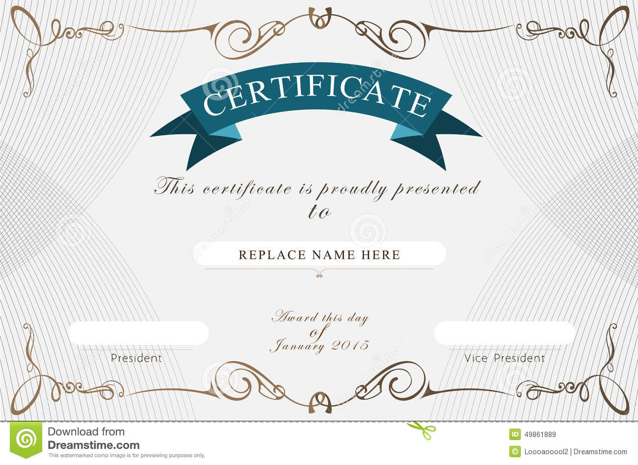 certificate border certificate template vector illustration antiqued name