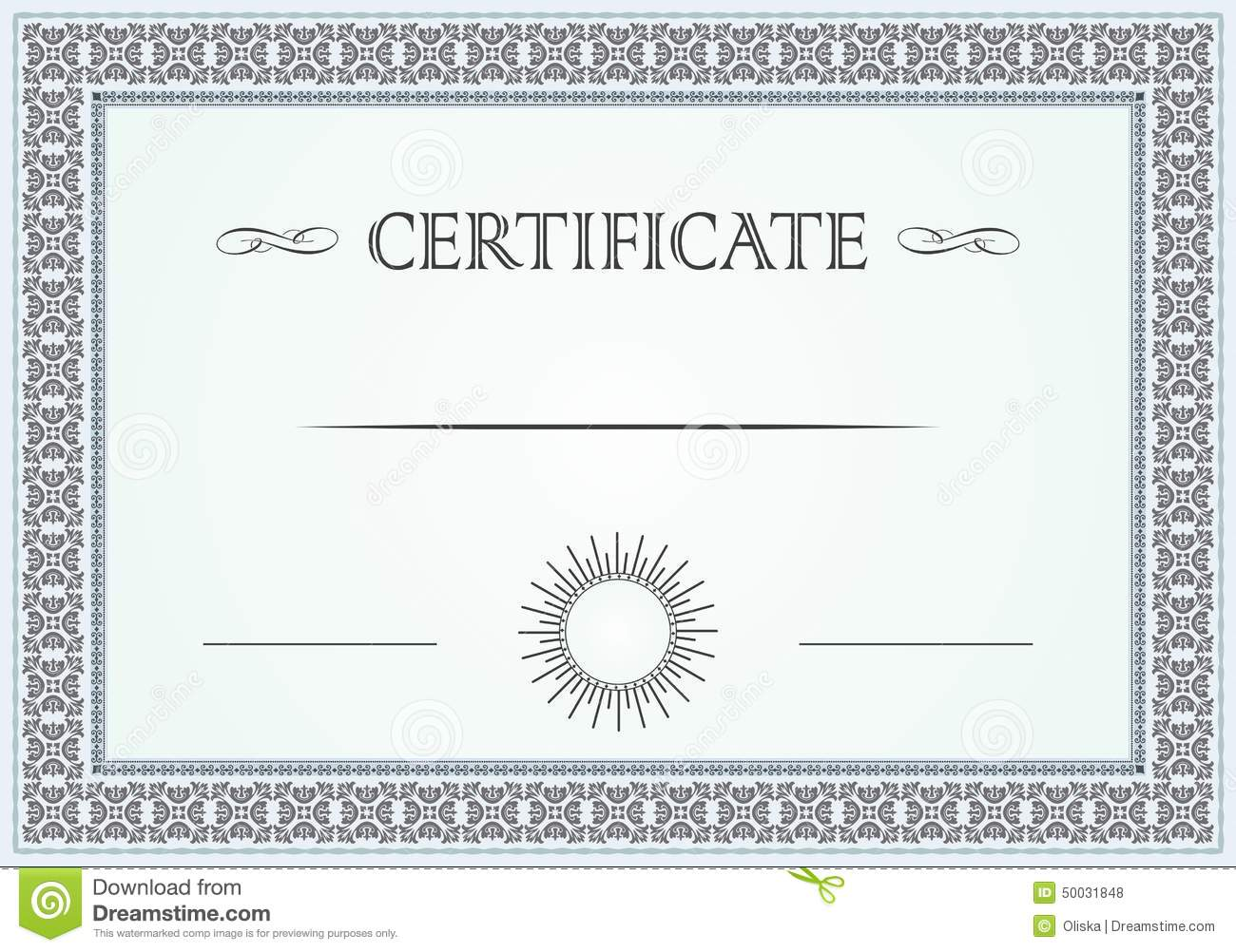 Certificate Border Stock Vector Illustration Of Education 50031848