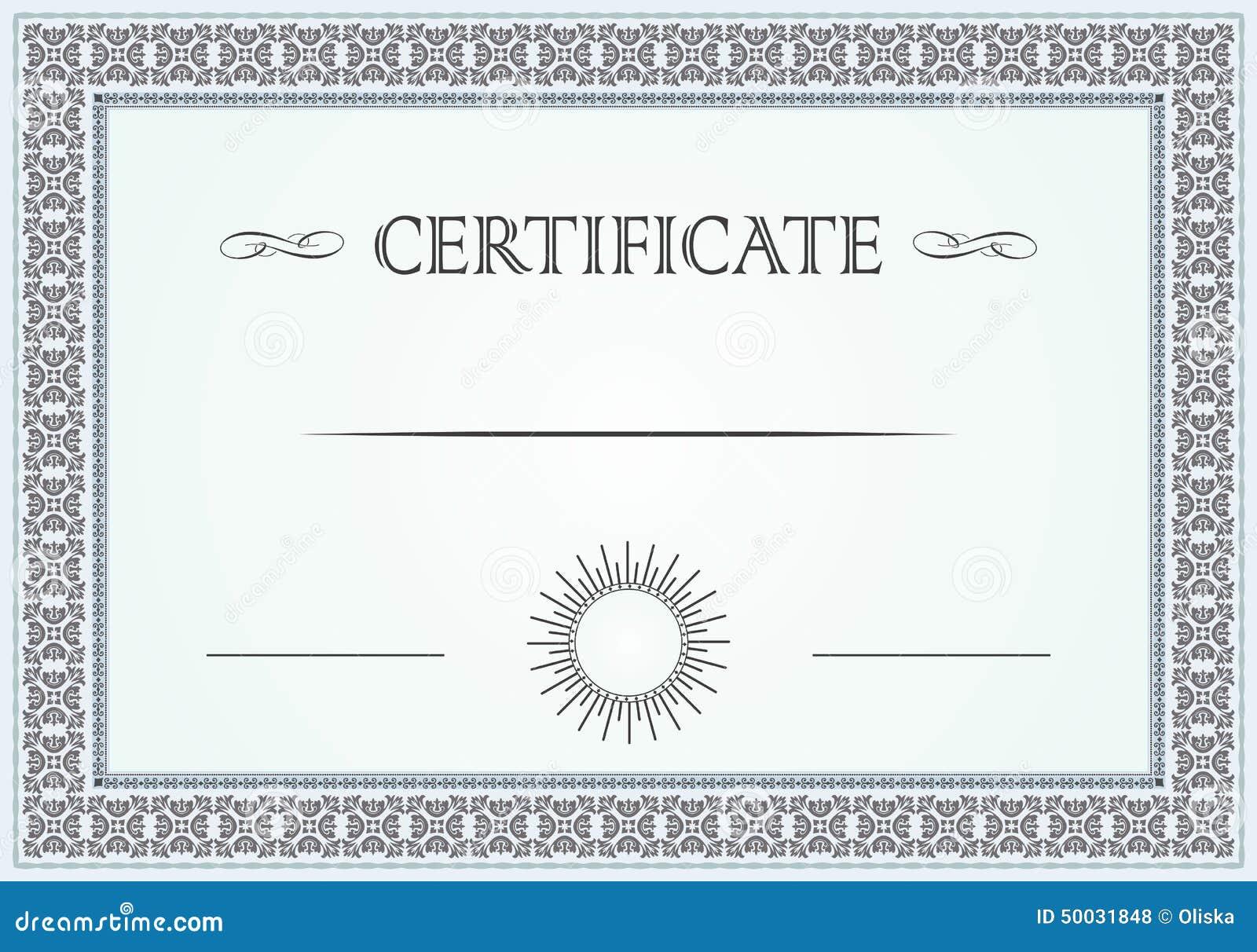 Certificate border stock vector image 50031848 for Vector certificate