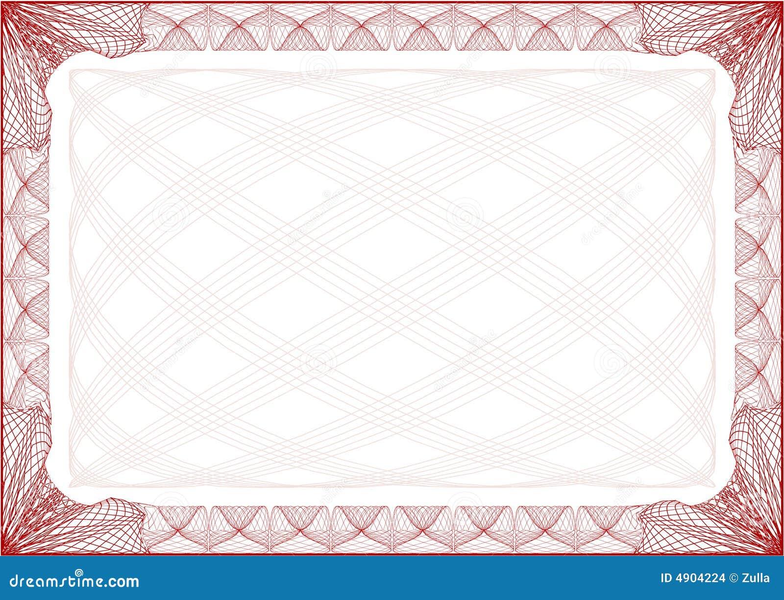 Certificate Border Letter Stock Images Image 4904224