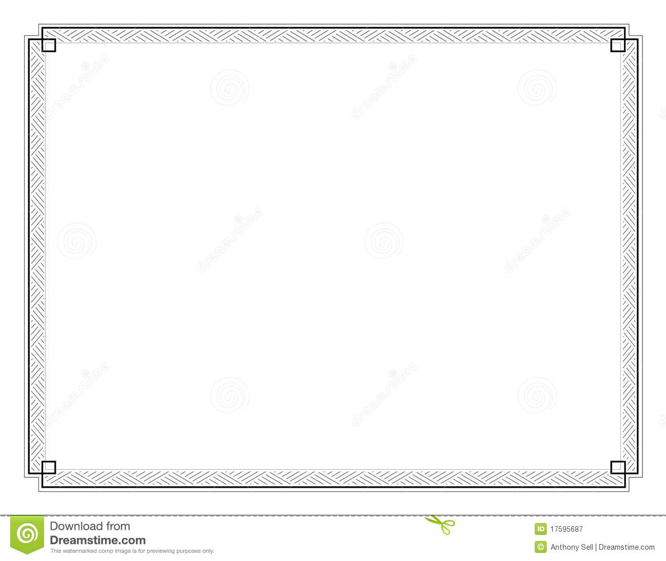 Certificate Border Letter Sized 020 Royalty Free Stock