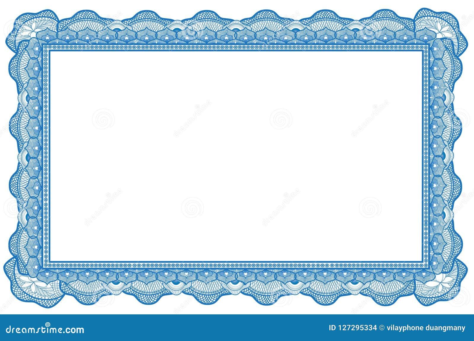 Certificate Border Template 2 Stock Illustration Illustration Of