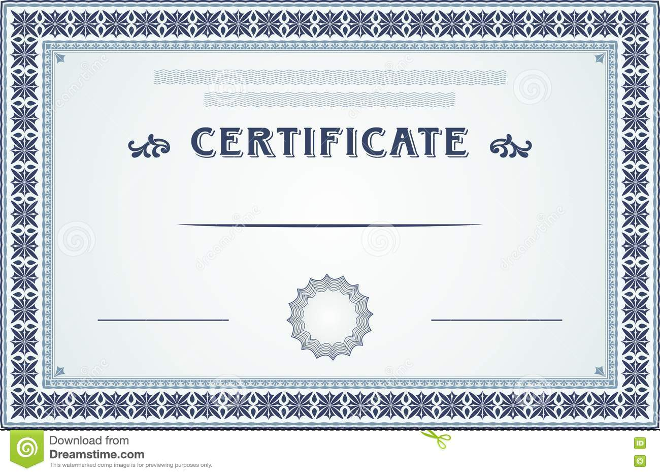 Certificate Border And Template Design Stock Vector Illustration