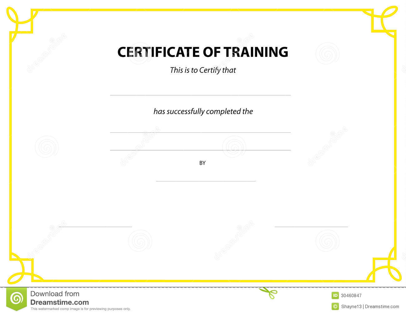 Certificate border , yellow frame and detail in certificate. Vector ...