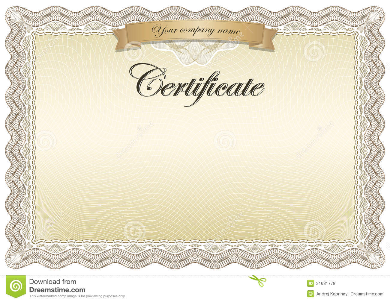 Certificate Brown Royalty Free Stock Photos - Image: 31681778