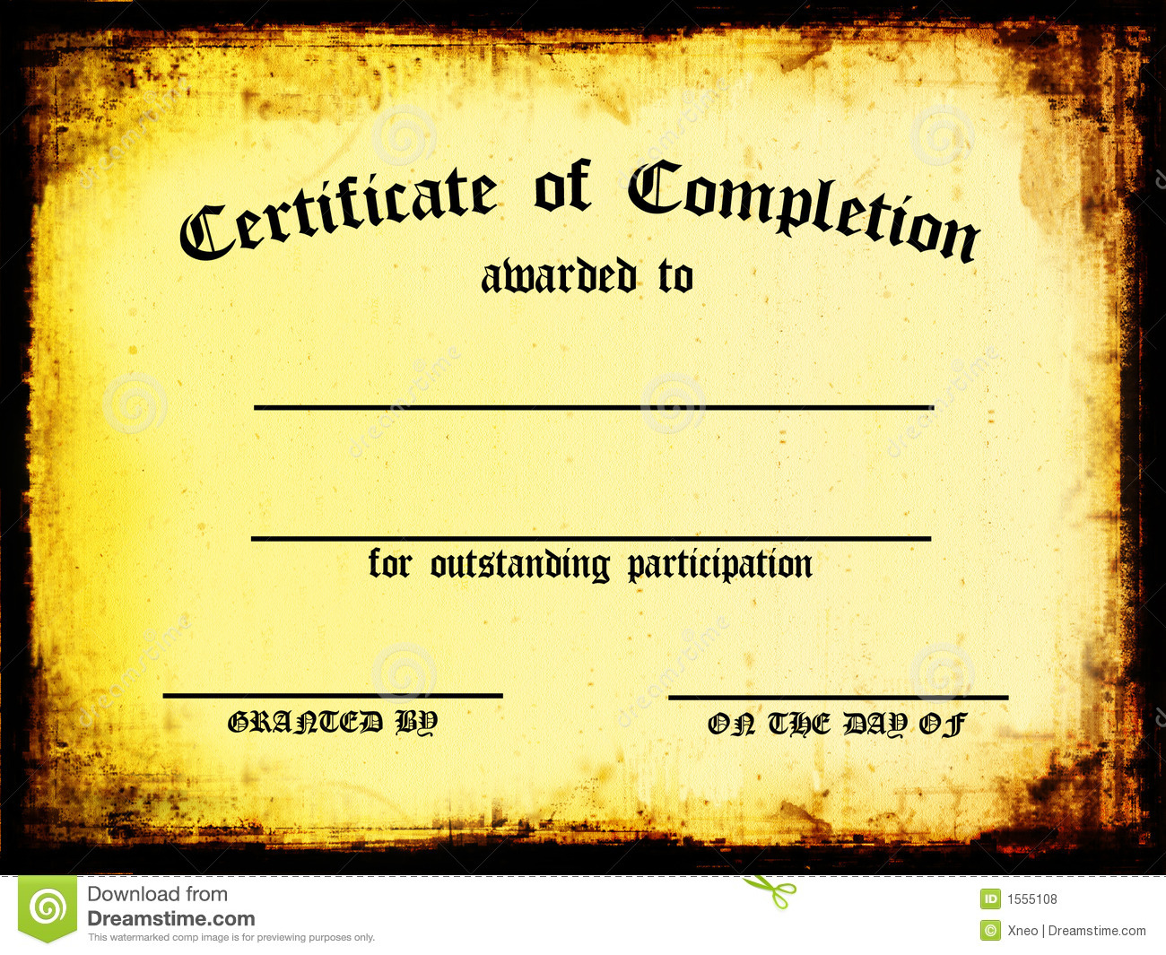 Certificate Of Completion Stock Illustration Illustration Of
