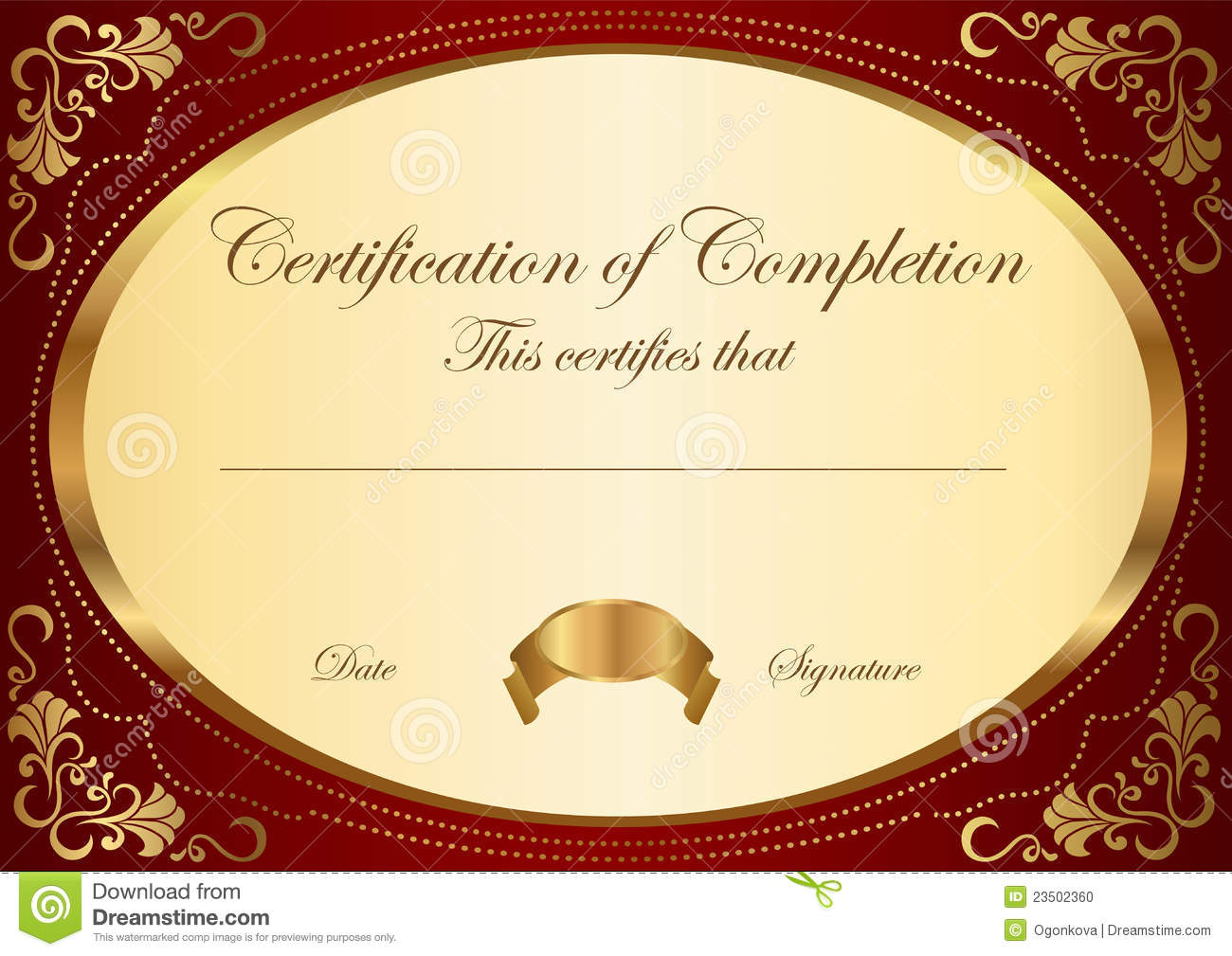 Certificate / Diploma Award Template. Frame  Award Word Template