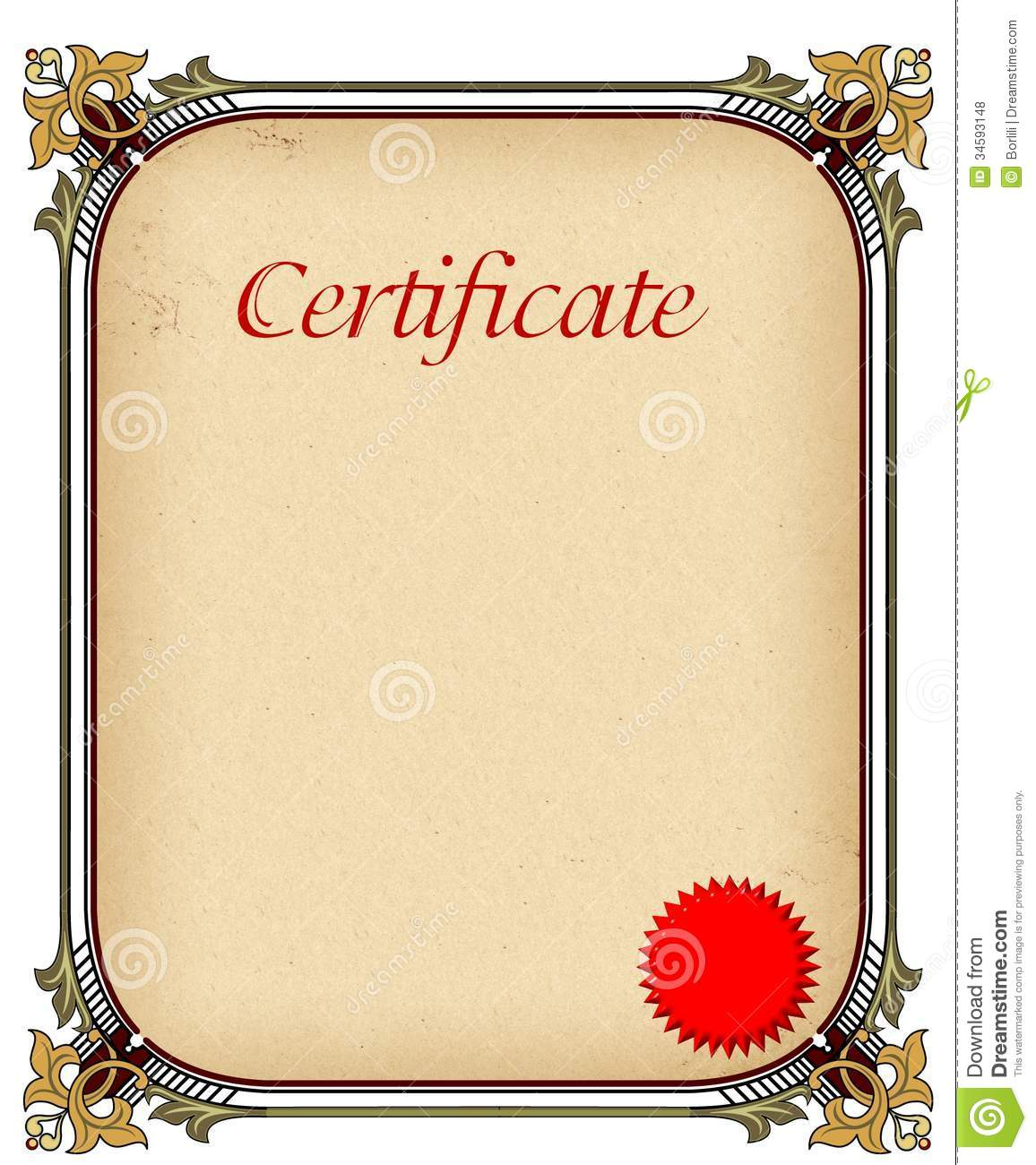 Certificate Of Completion Template Royalty Free Stock ...