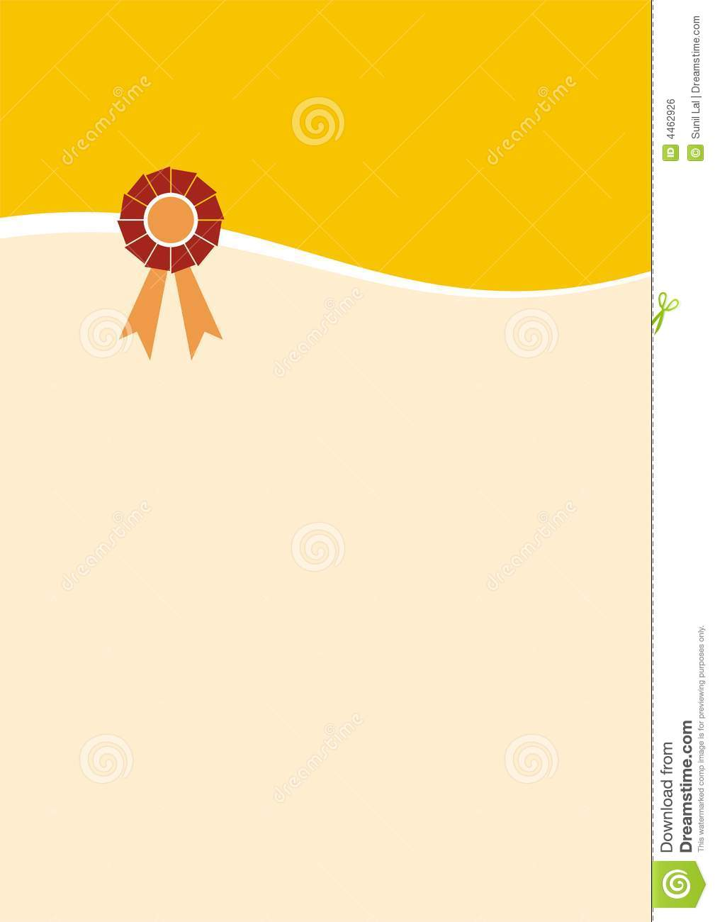 Certificate Design A3 Royalty Free Stock Image - Image: 4462926