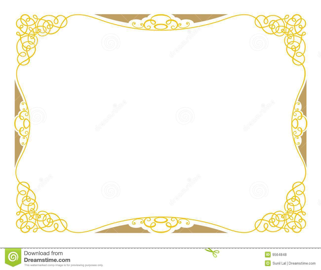 Certificate Design A3 Ornamental Stock Illustration