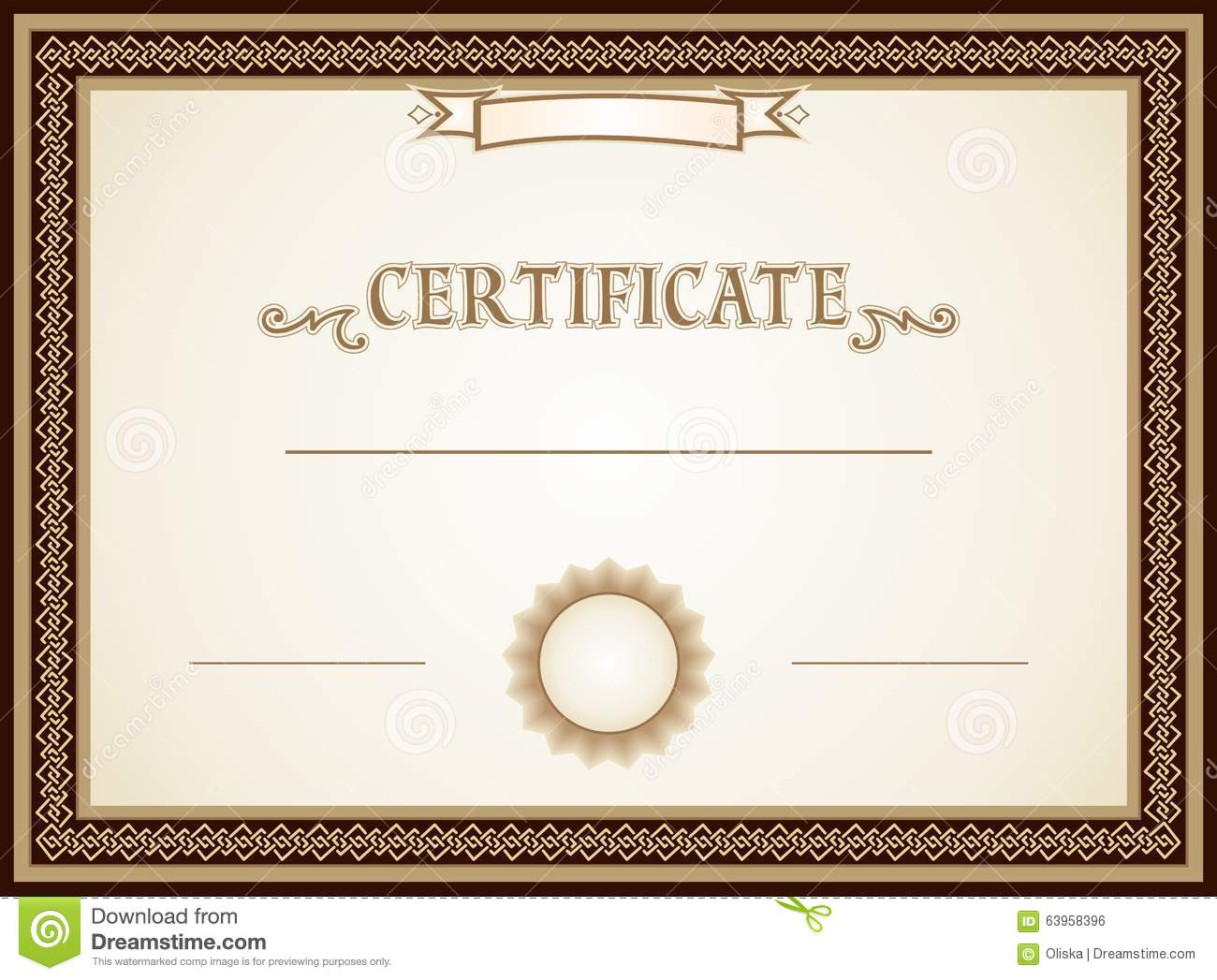 Certificate design stock vector. Image of background ...