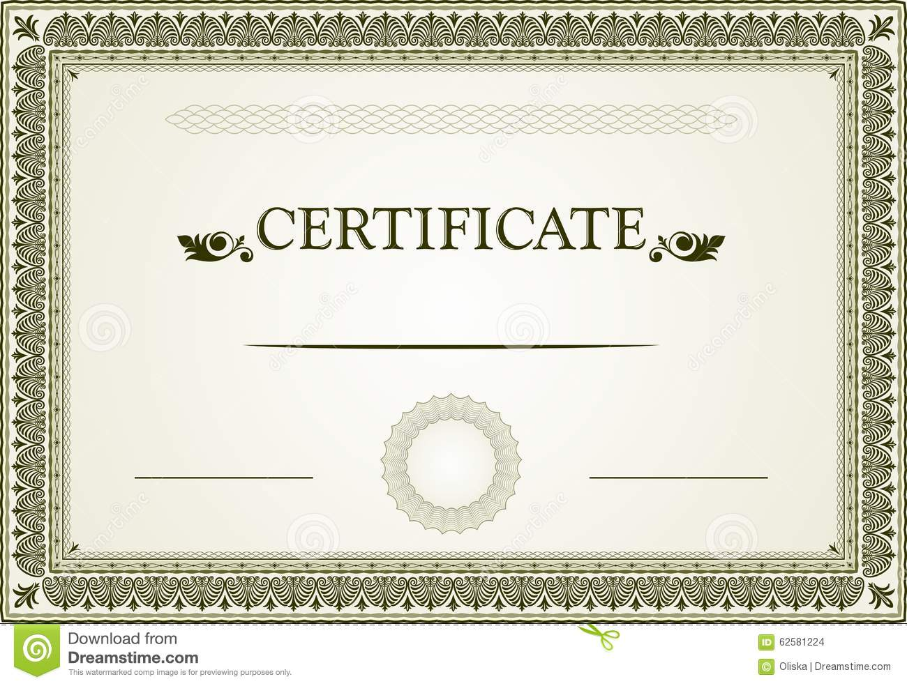 Certificate Design Stock Vector - Image: 62581224