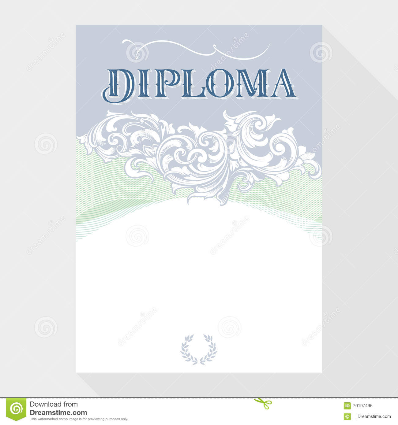 Certificate design template in baroque style