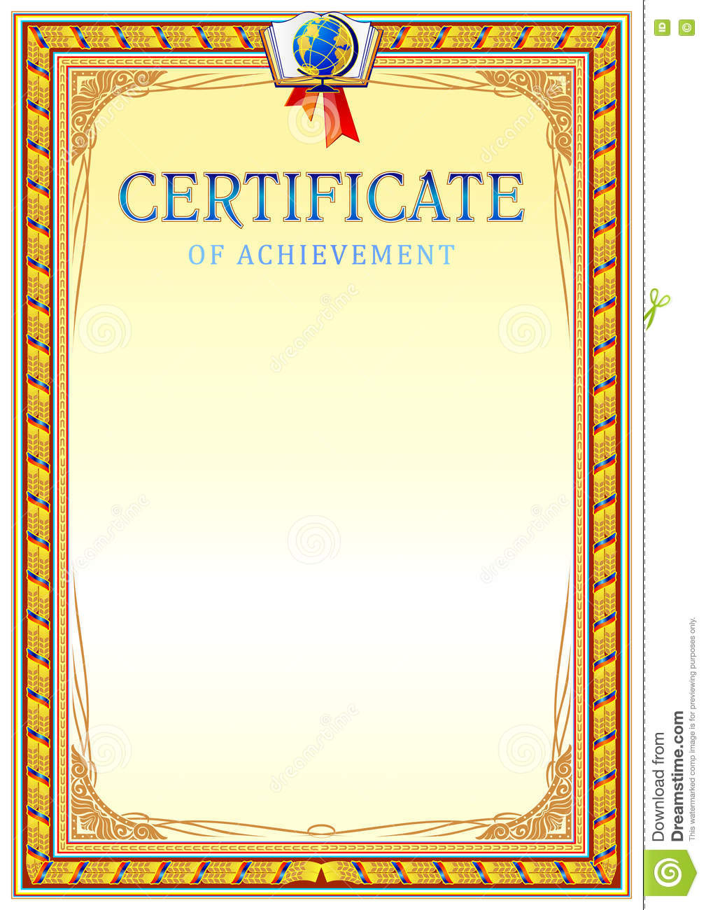 certificate design template stock vector illustration of