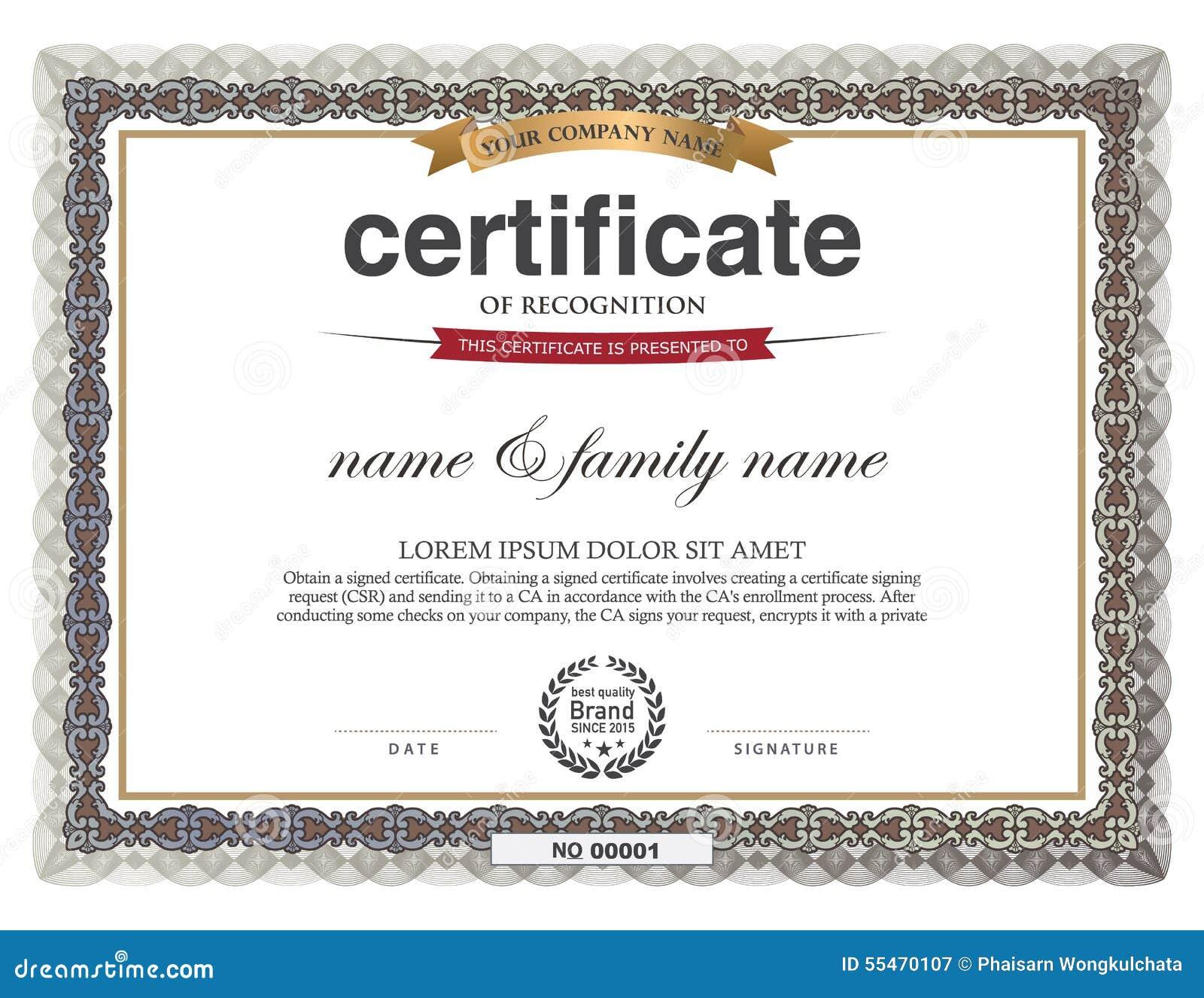 8  5 Certificate Frame