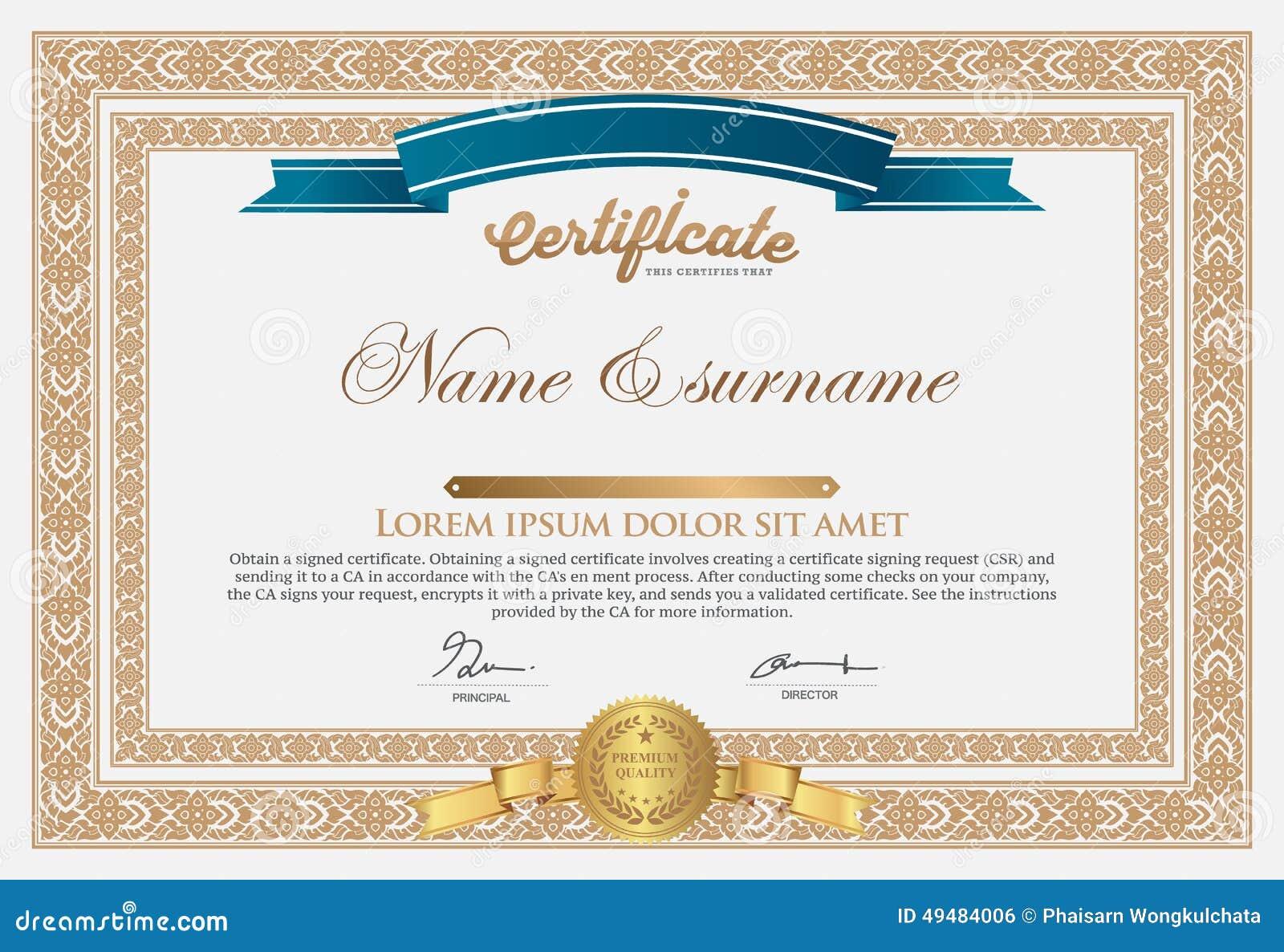 Certificate design template stock vector illustration of design certificate design template certificates invitation yelopaper Images