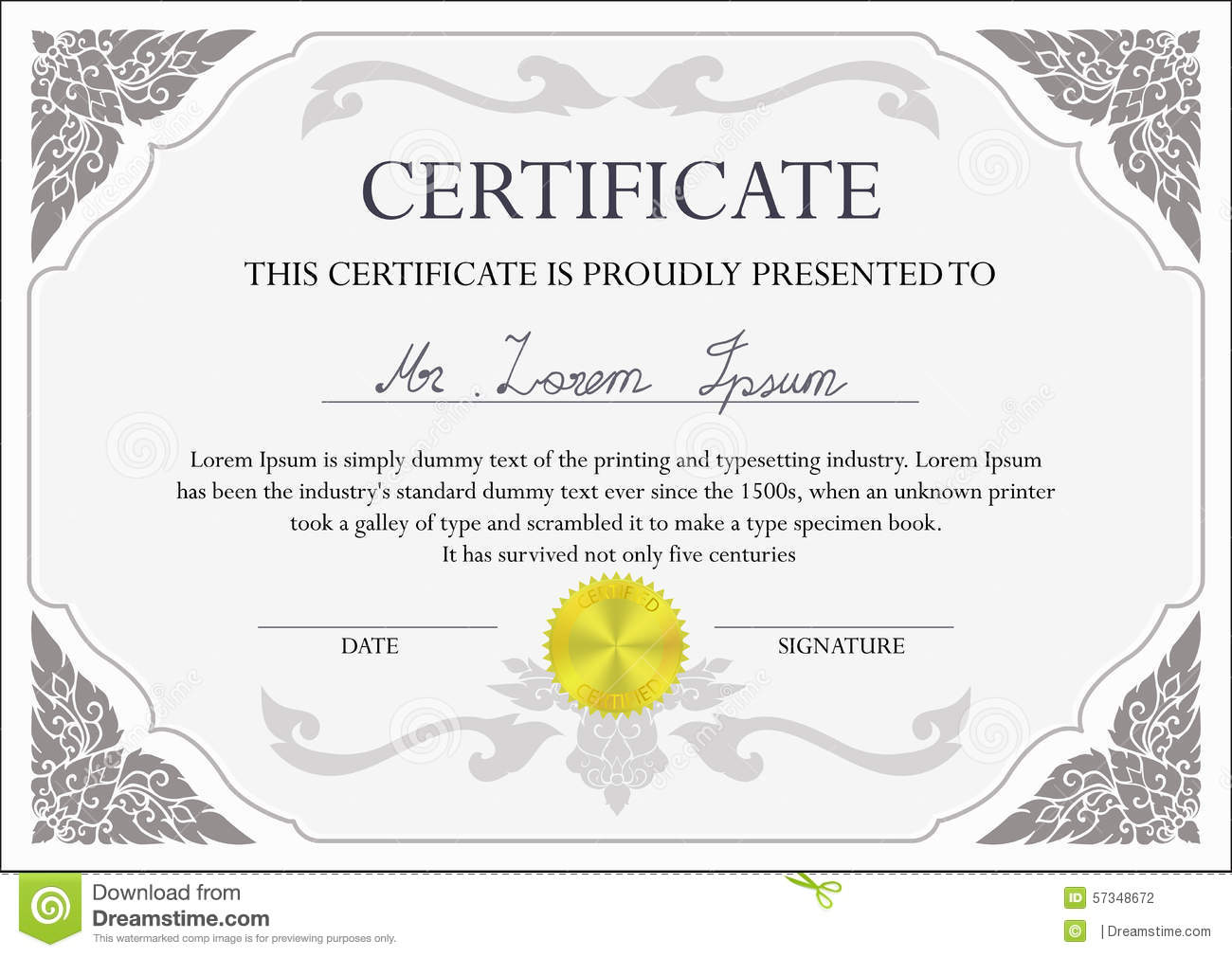 Certificate design template stock vector illustration of ornate certificate design template royalty free vector 1betcityfo Choice Image