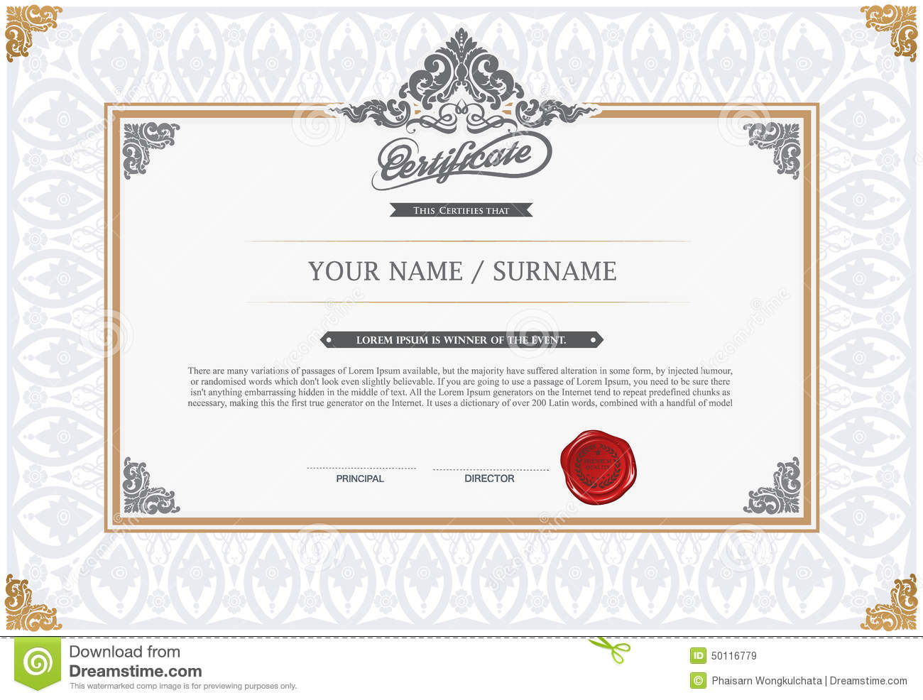 Certificate design template stock vector illustration of degree certificate design template royalty free vector 1betcityfo Choice Image