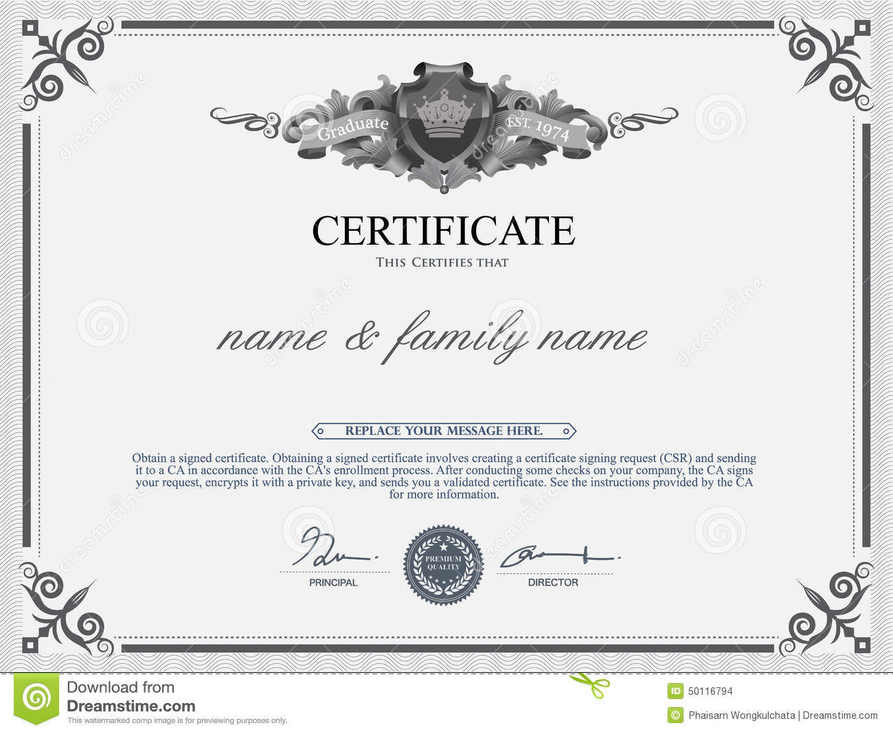 Chef certificate template choice image templates example free chef certificate template choice image templates example free certificate design template stock vector illustration of border yelopaper Images