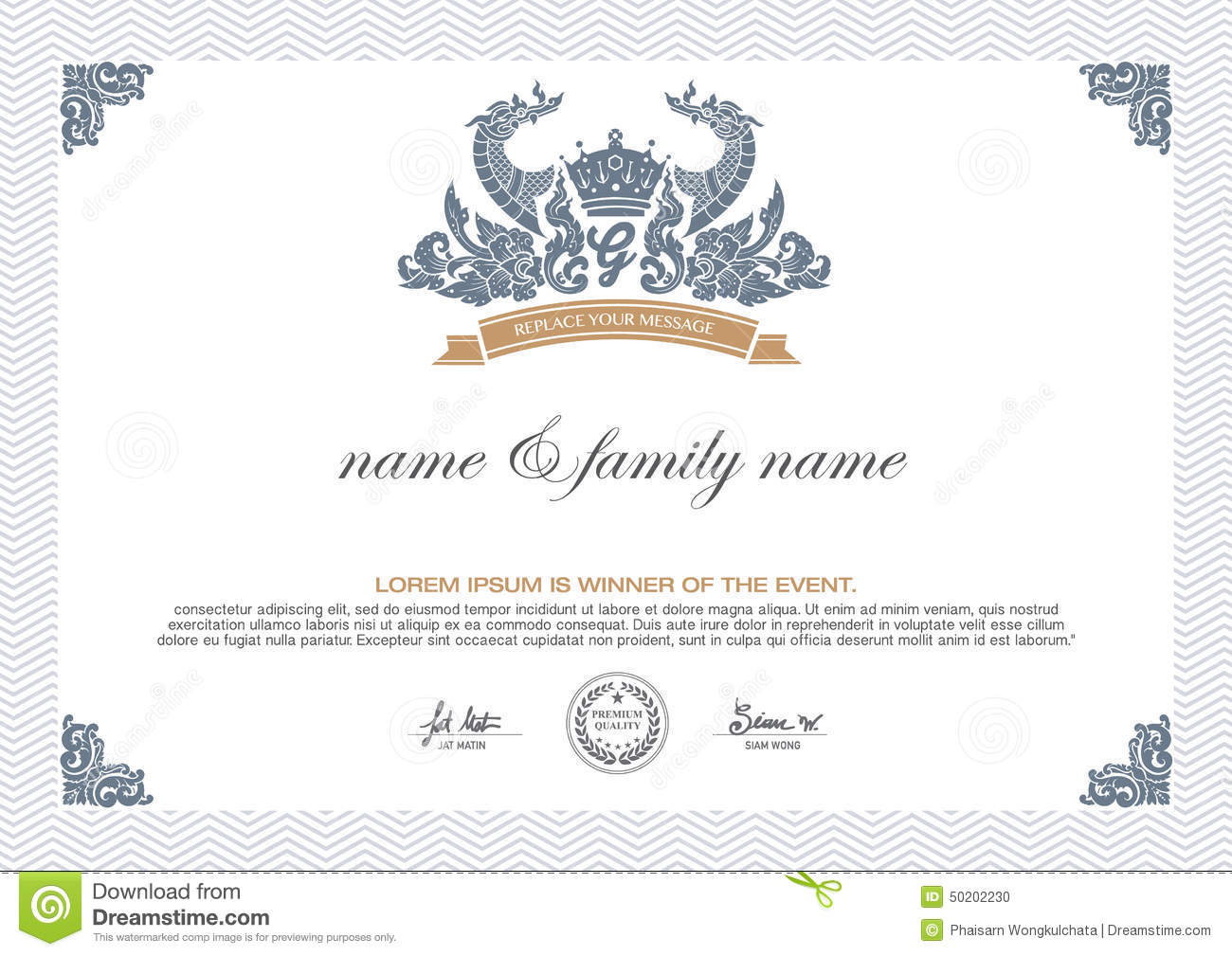 Certificate design template stock vector image 50202230 for Certificate design template