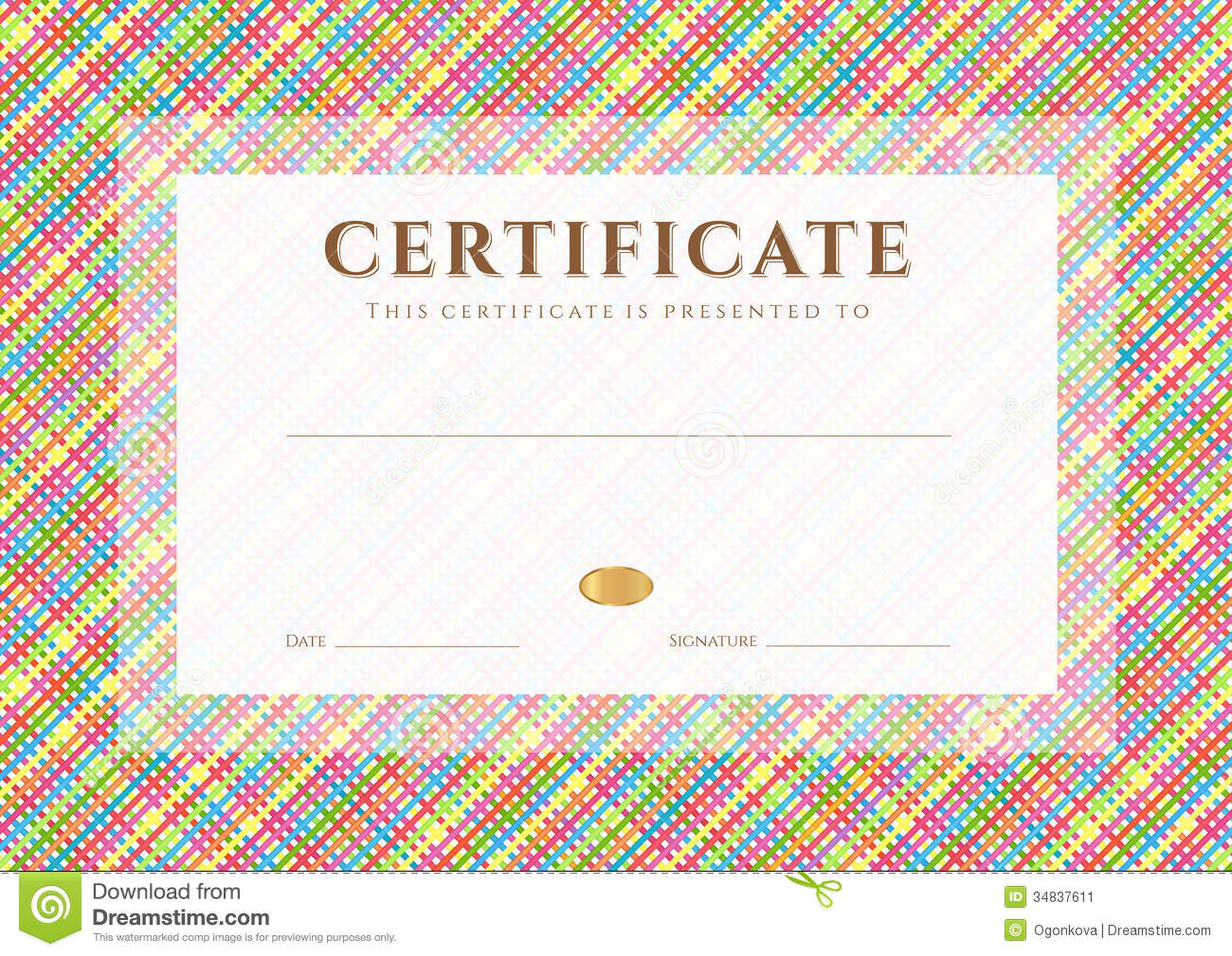 colorful certificate templates