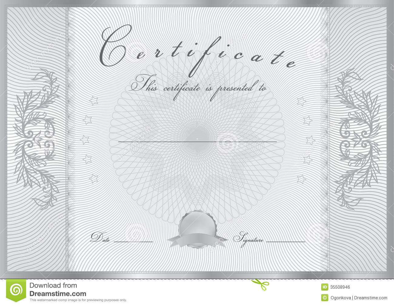 Free printable certificate border templates school application certificate diploma award template pattern stock vector image certificate diploma award template pattern completion design background yadclub Images
