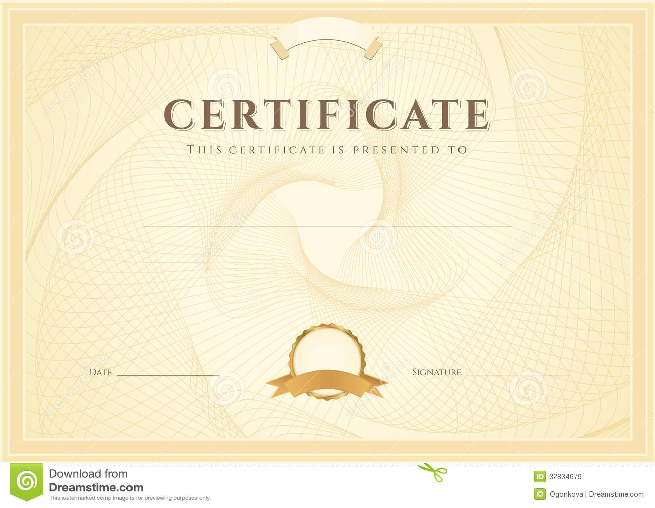 Certificate diploma background template stock vector certificate diploma background template yadclub