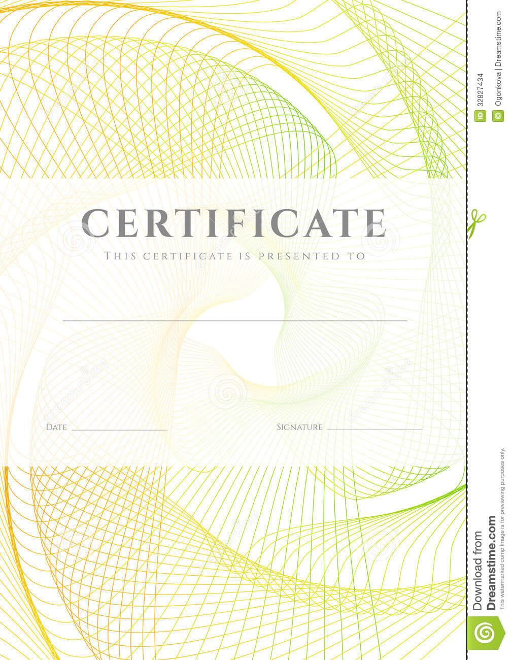 Certificate Diploma Background Template Stock Images