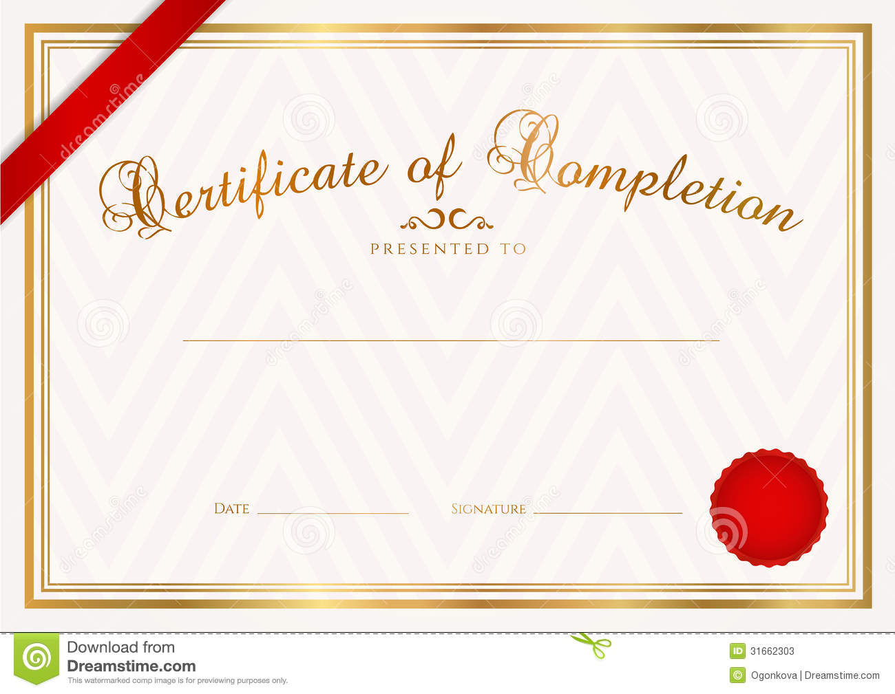 Certificate diploma background template stock vector for Dog show certificate template