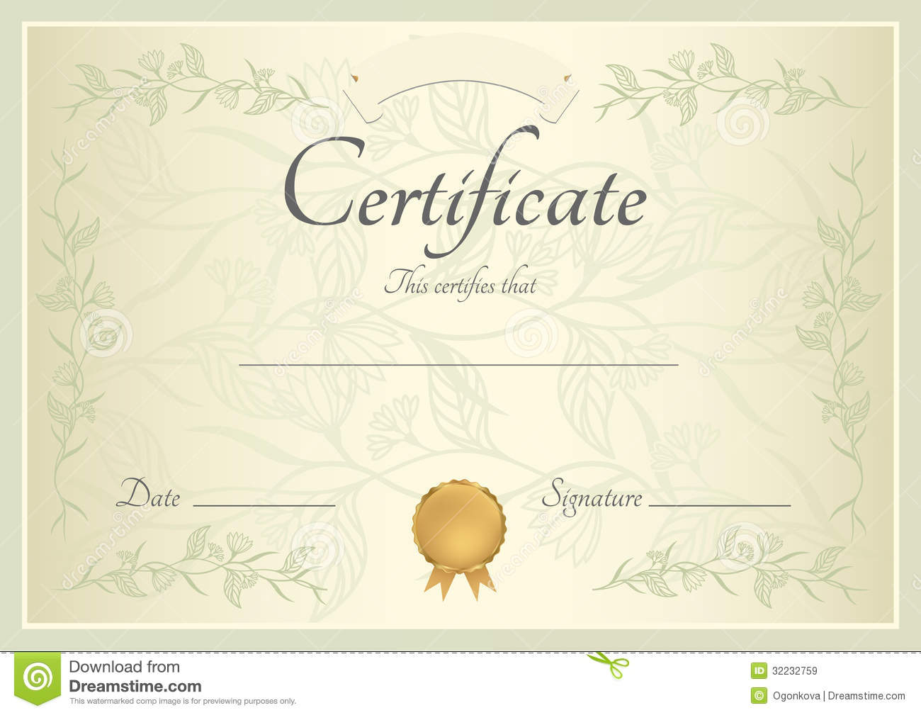 Certificate / Diploma Background (template)  Certificate Of Completion Template Free Download